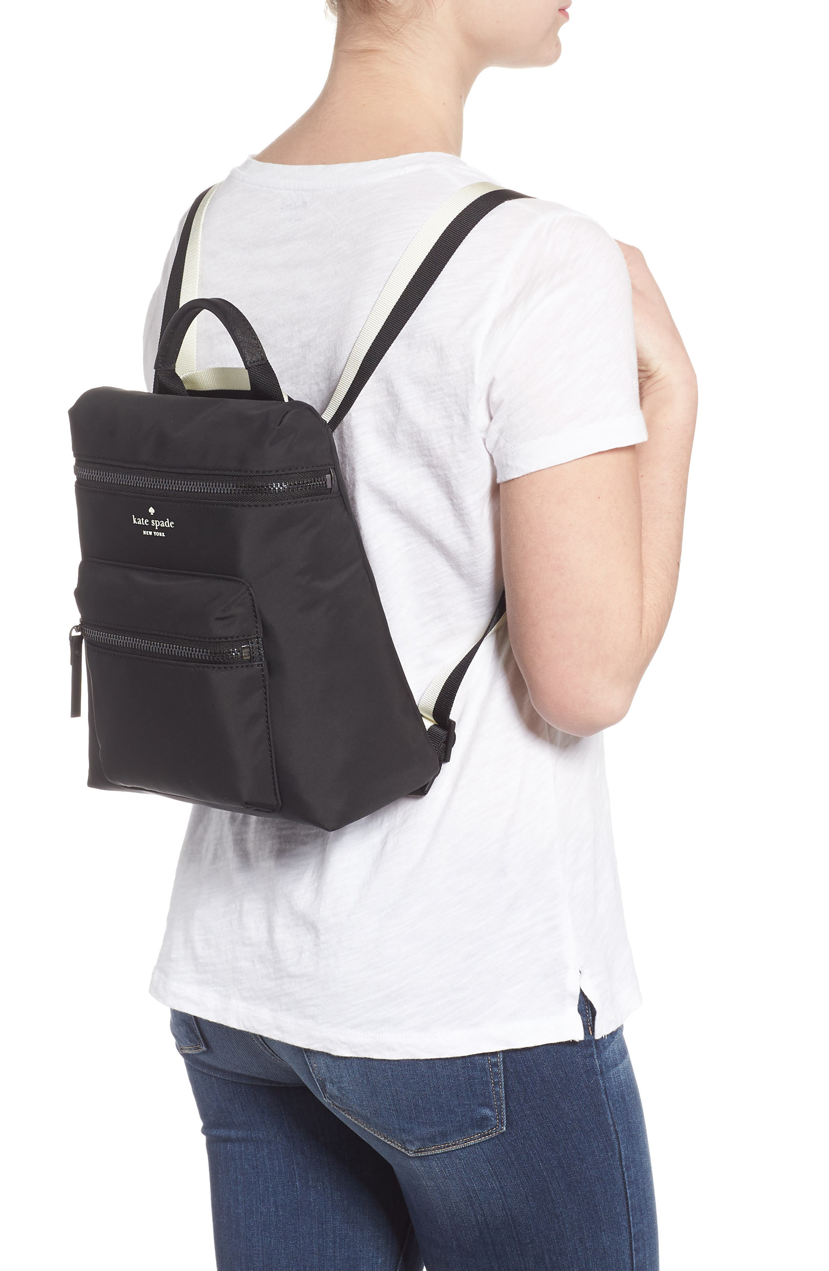 that's the spirit mini nylon convertible backpack,                             Alternate thumbnail 2, color,                             BLACK