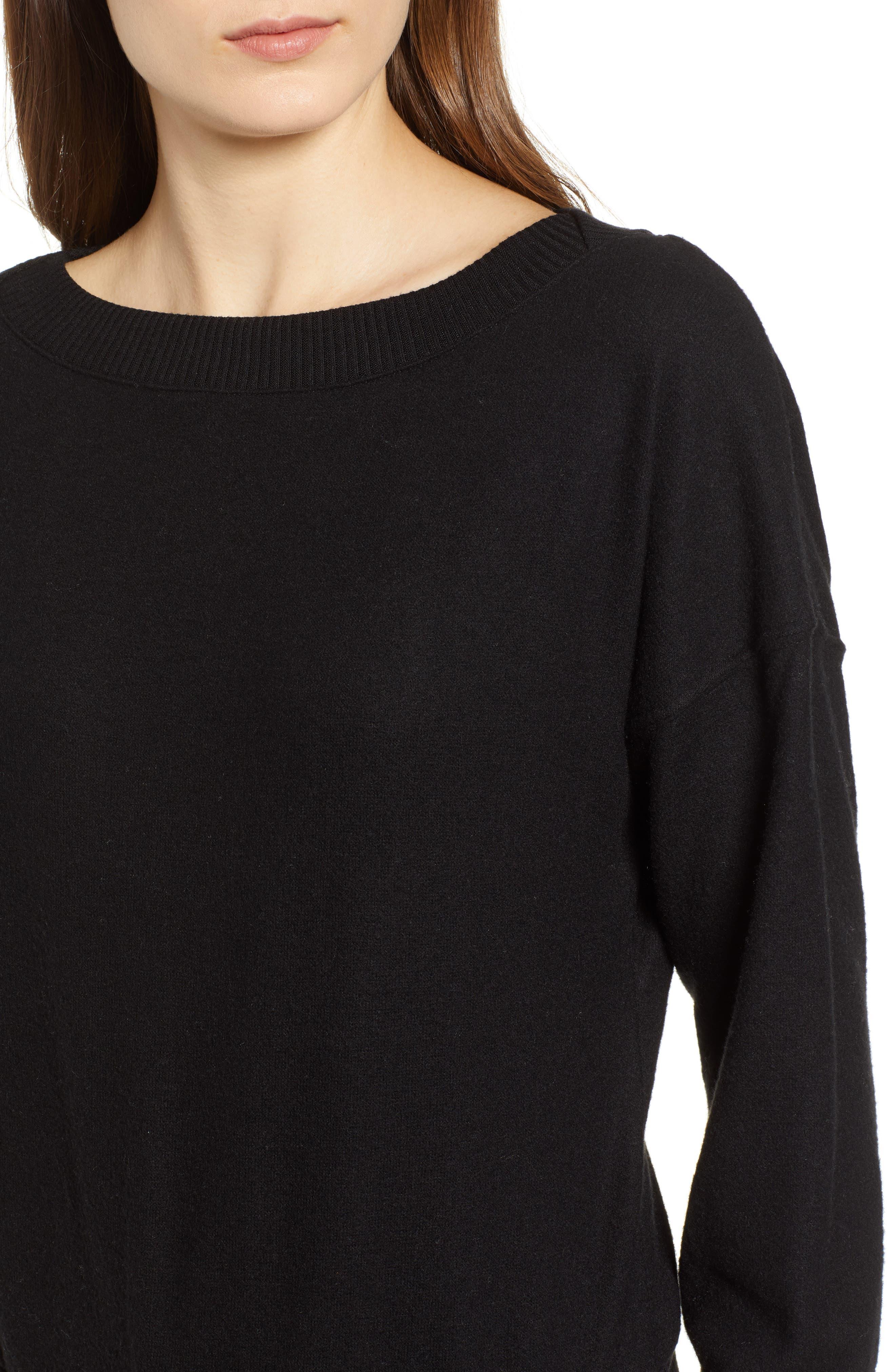 Darwin Cozy Sweatshirt,                             Alternate thumbnail 4, color,                             BLACK