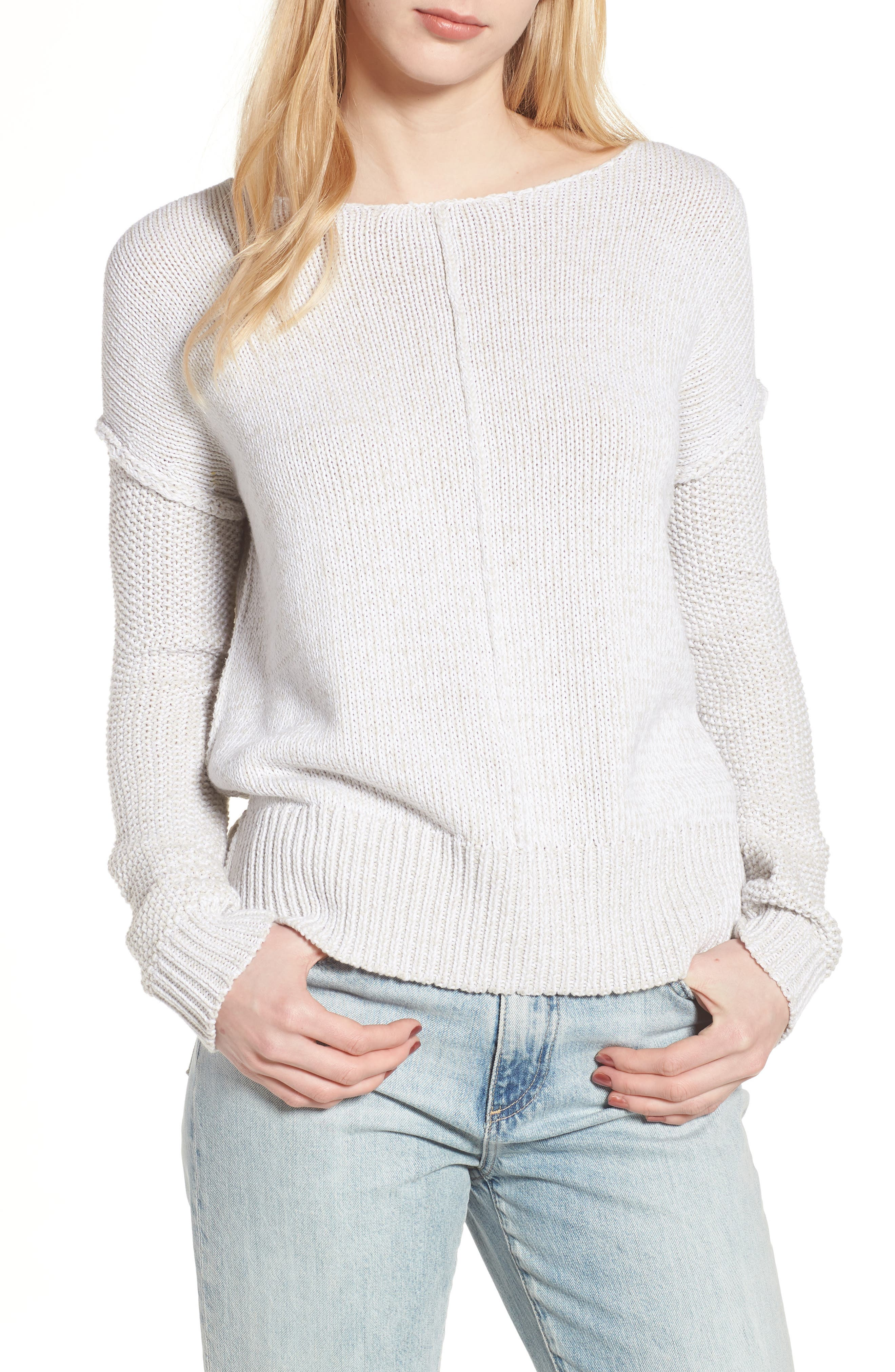 Lola Reversible Twist Sweater,                             Main thumbnail 1, color,                             100