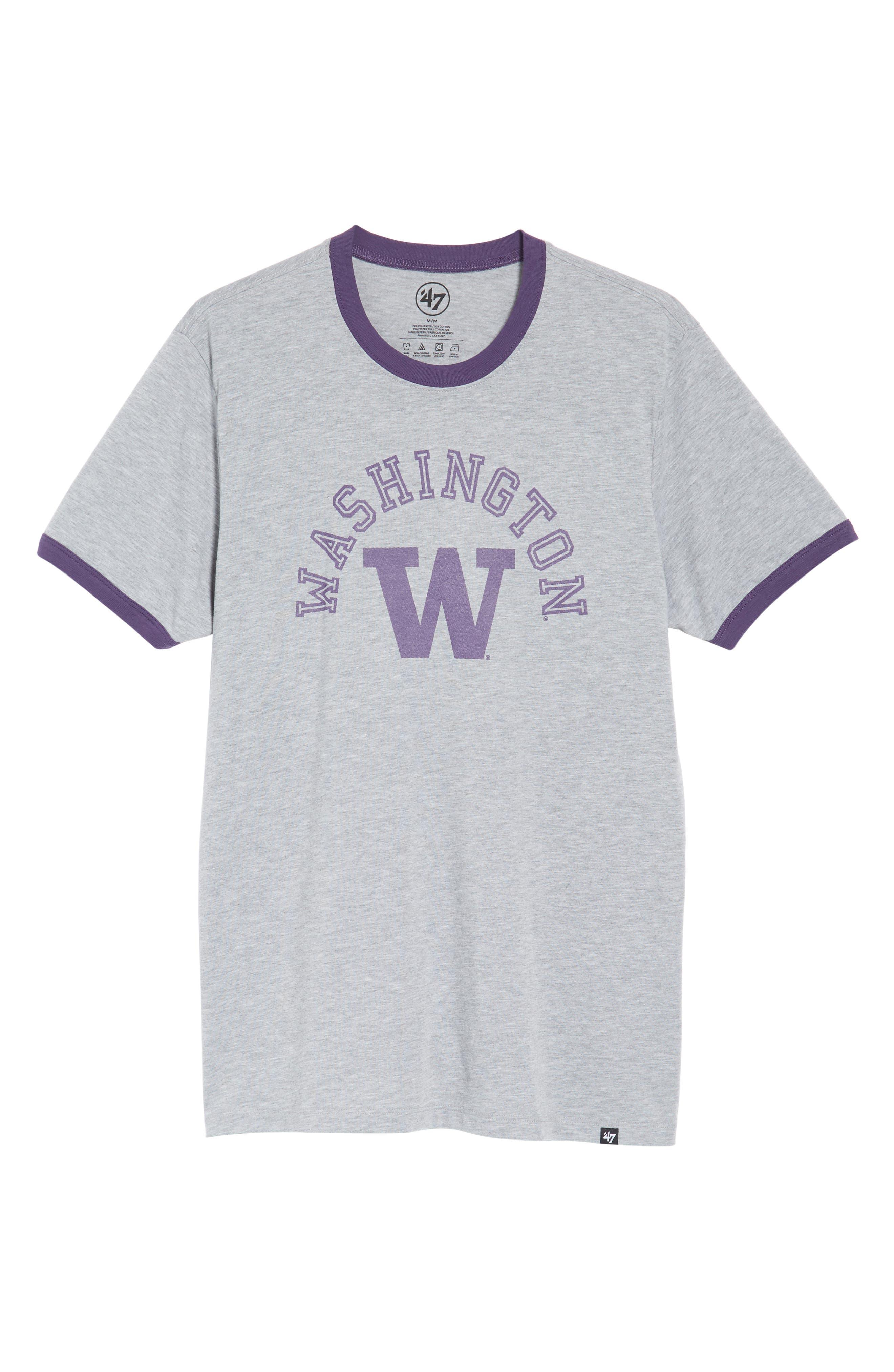 University of Washington Huskies Ringer T-Shirt,                             Alternate thumbnail 6, color,                             020