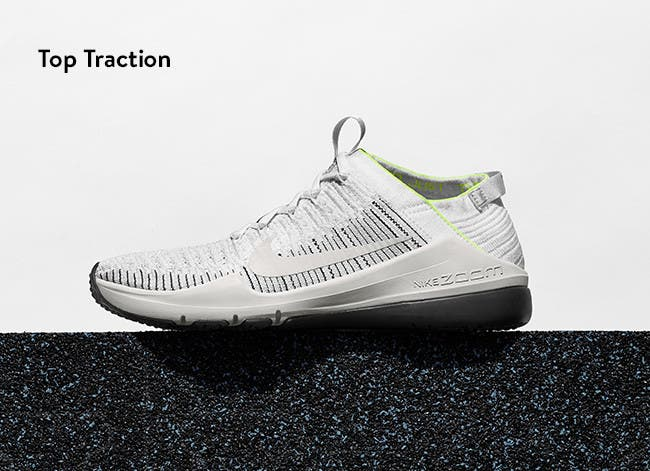 Top traction: performance sneakers.