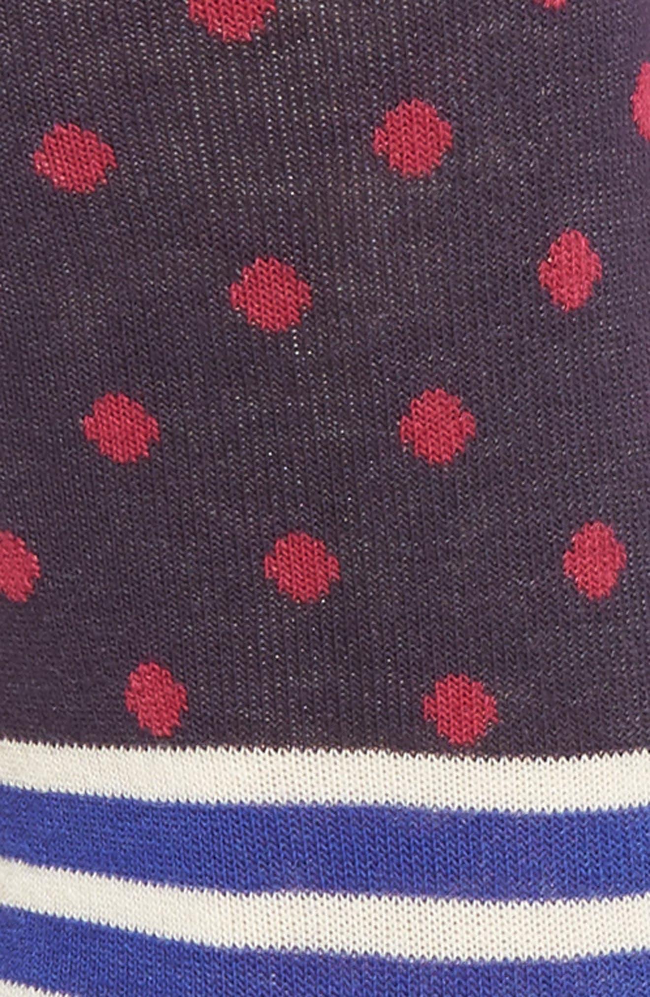 Stripes & Dots Crew Socks,                             Alternate thumbnail 6, color,