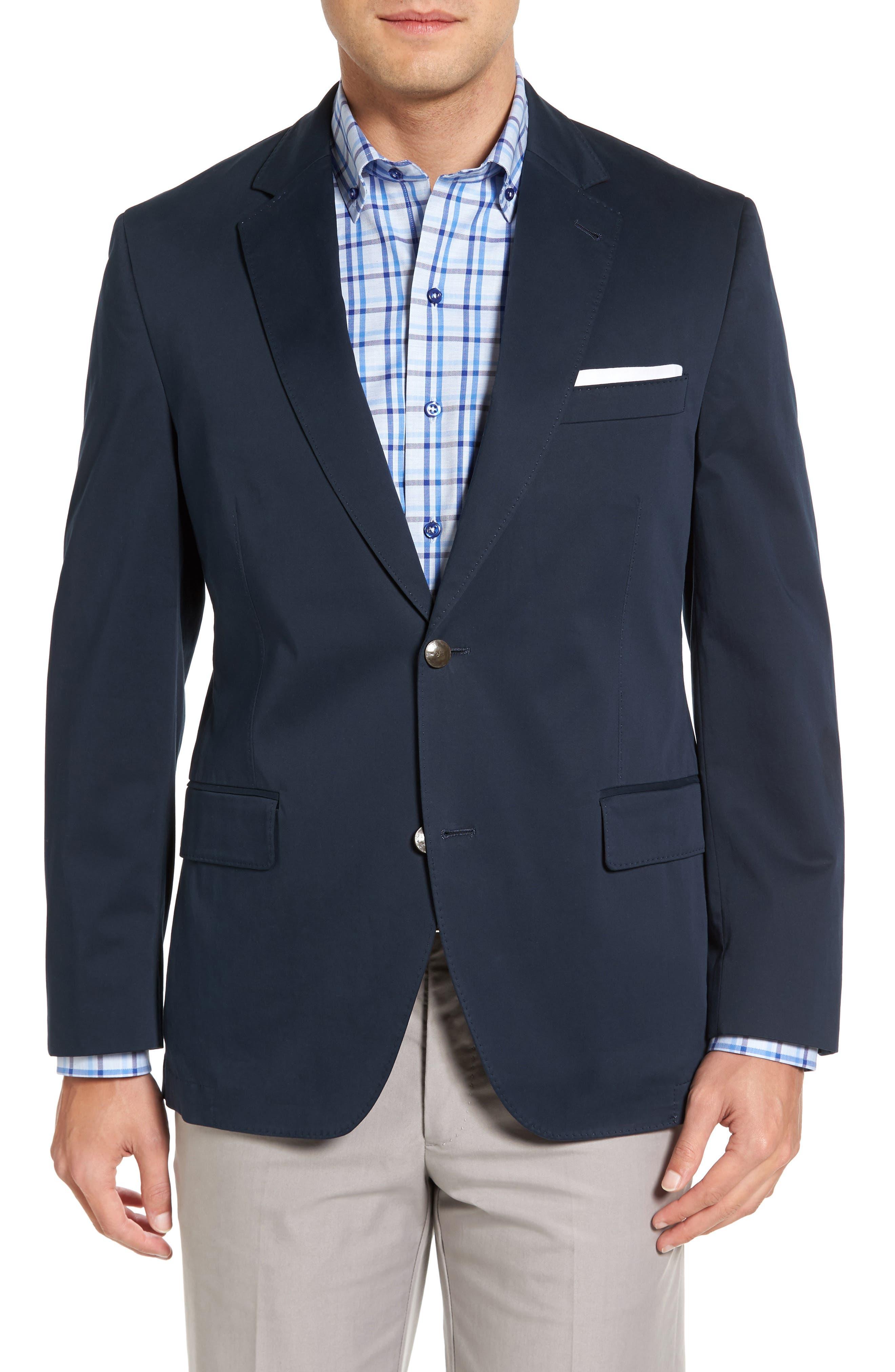 Mathis Classic Fit Stretch Cotton Blazer,                             Main thumbnail 1, color,                             410