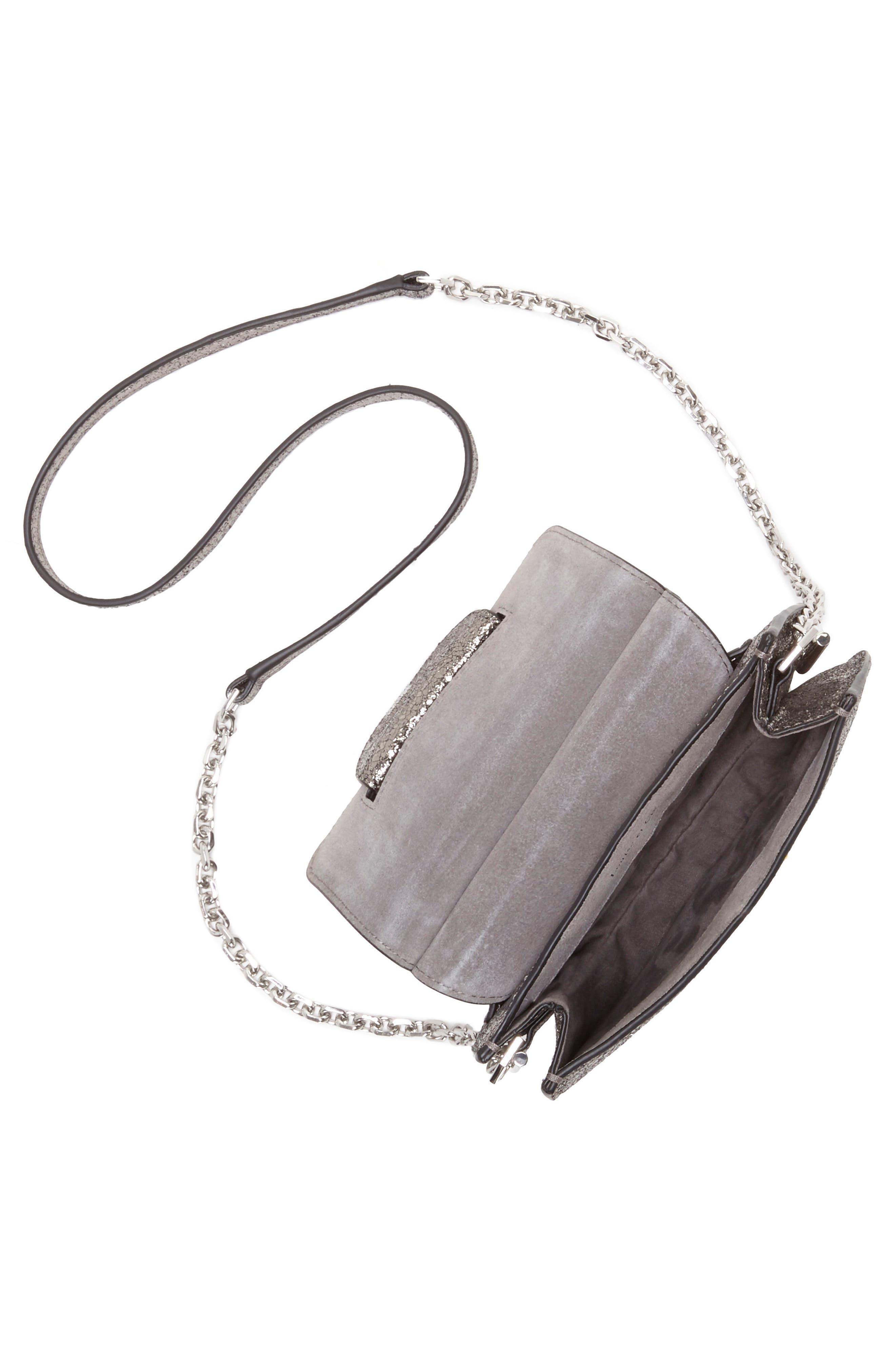 Kaea Metallic Leather Bracelet Bag,                             Alternate thumbnail 3, color,                             040