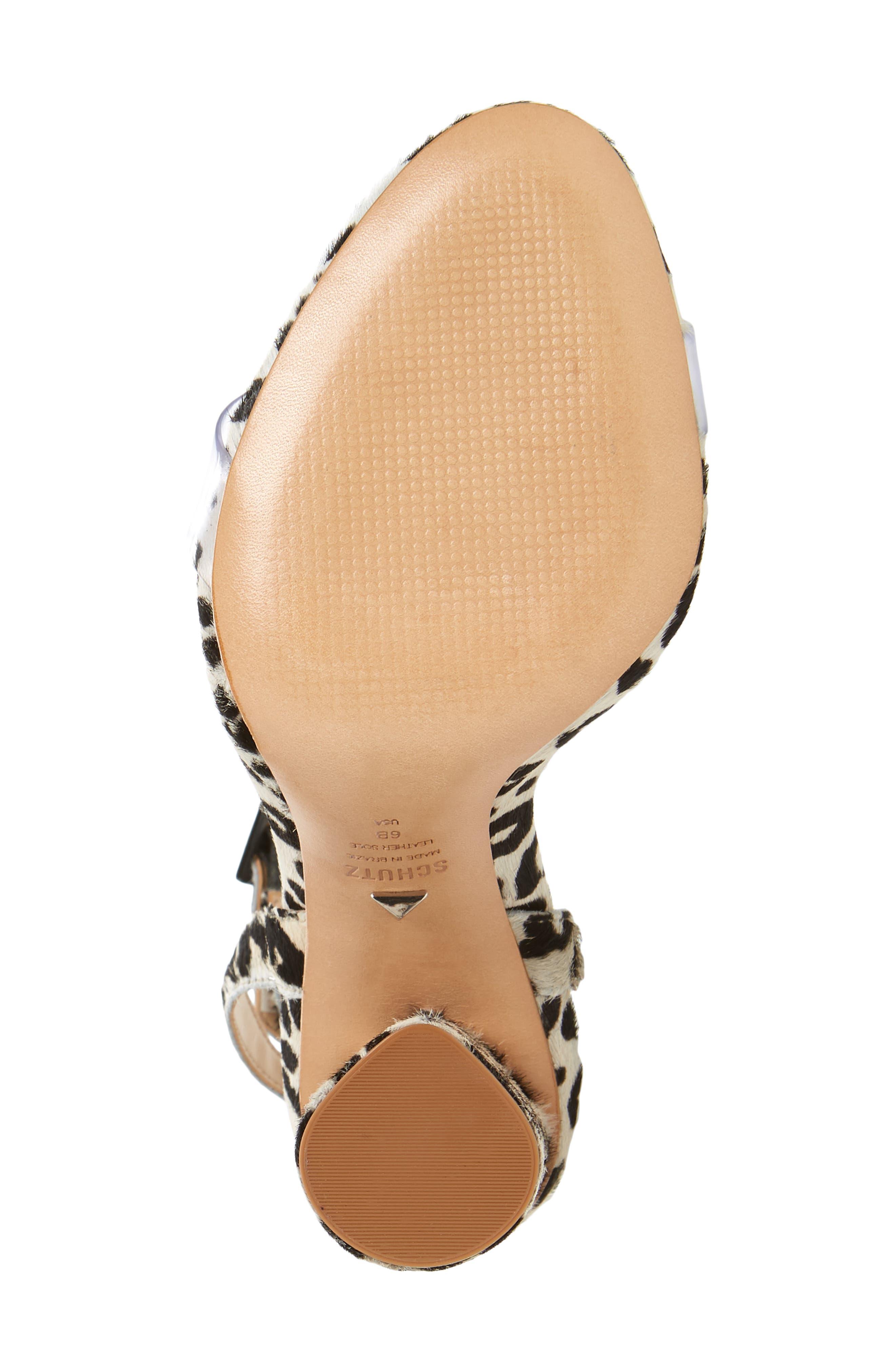 Elenita Genuine Calf Hair Sandal,                             Alternate thumbnail 6, color,                             PEARL CALF HAIR