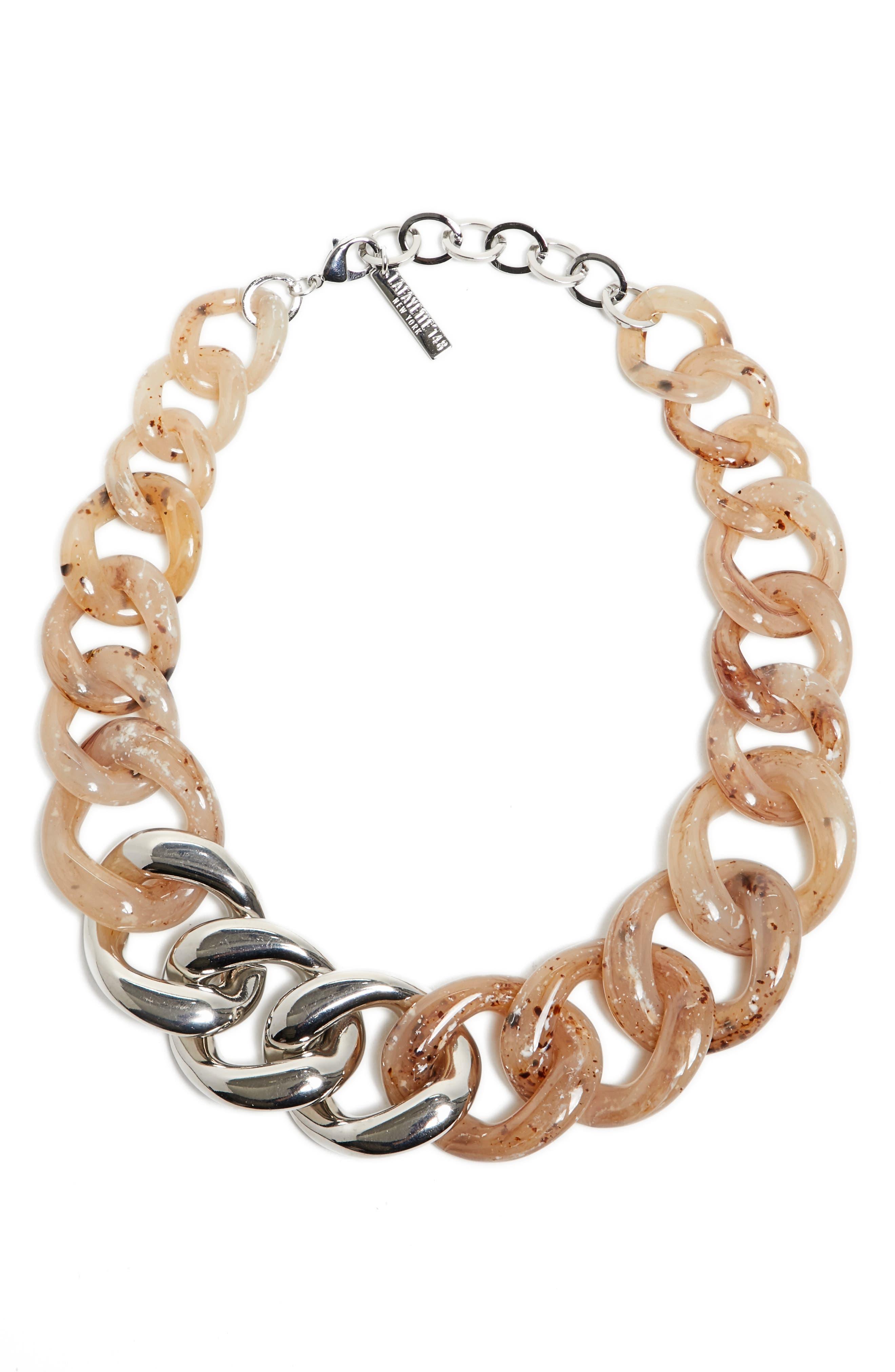 Chain Link Statement Necklace,                             Main thumbnail 1, color,