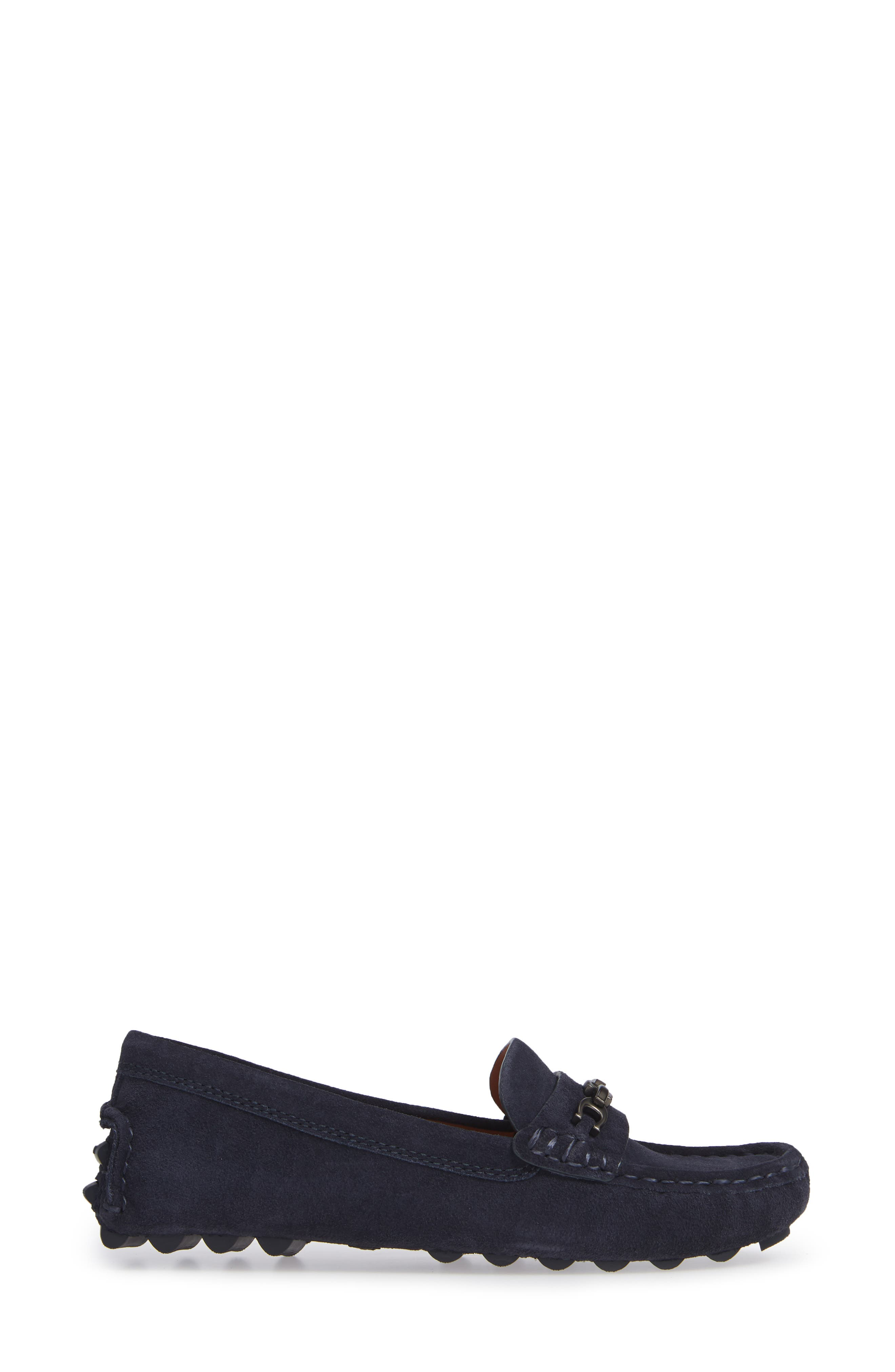 Crosby Driver Loafer,                             Alternate thumbnail 3, color,                             MIDNIGHT NAVY SUEDE