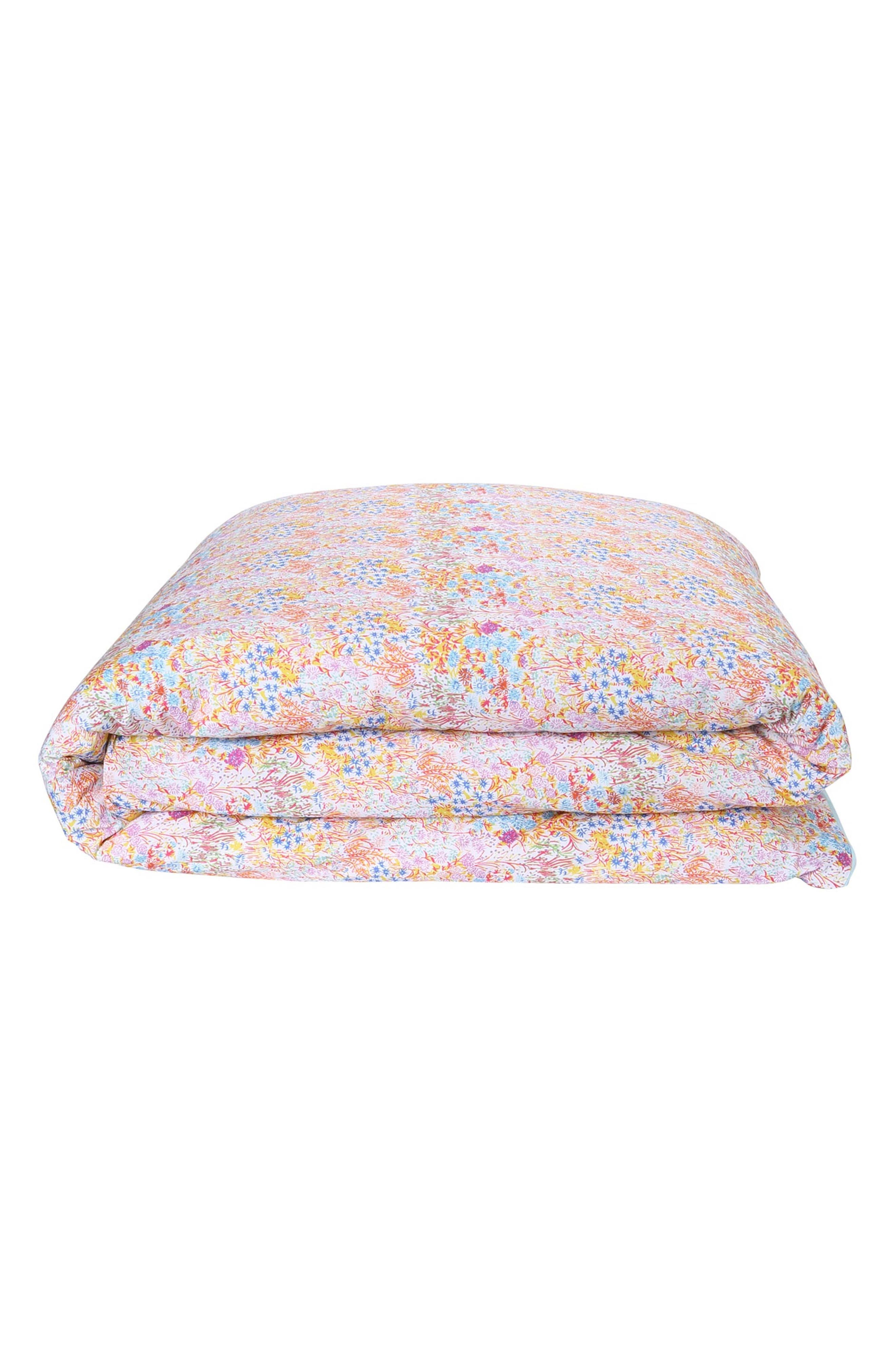 Little Colored Flowers Cotton Comforter,                             Main thumbnail 1, color,                             MULTI