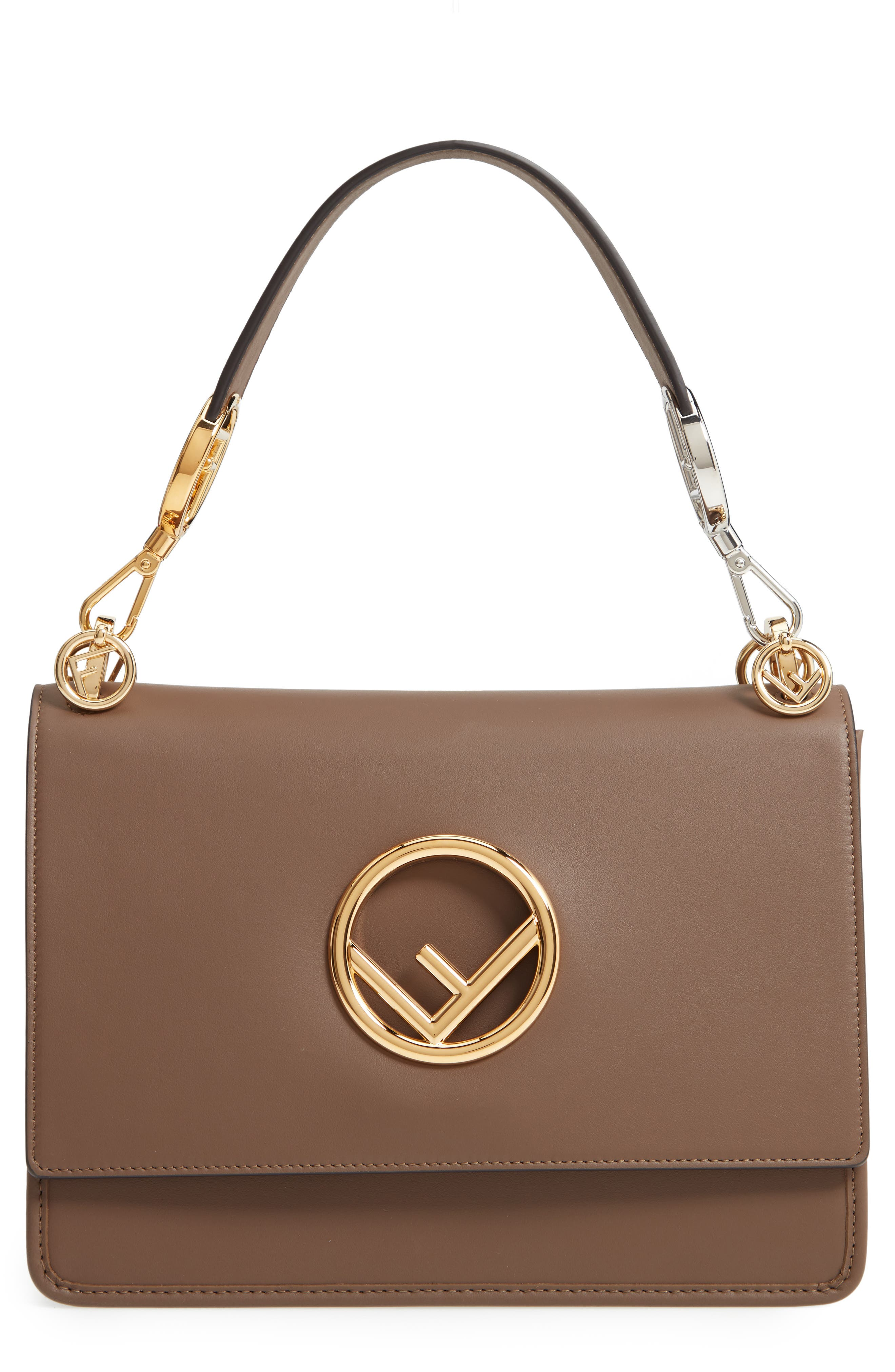 Kan I Calfskin Leather Shoulder Bag,                             Main thumbnail 1, color,                             MAYA/ ORO SOFT