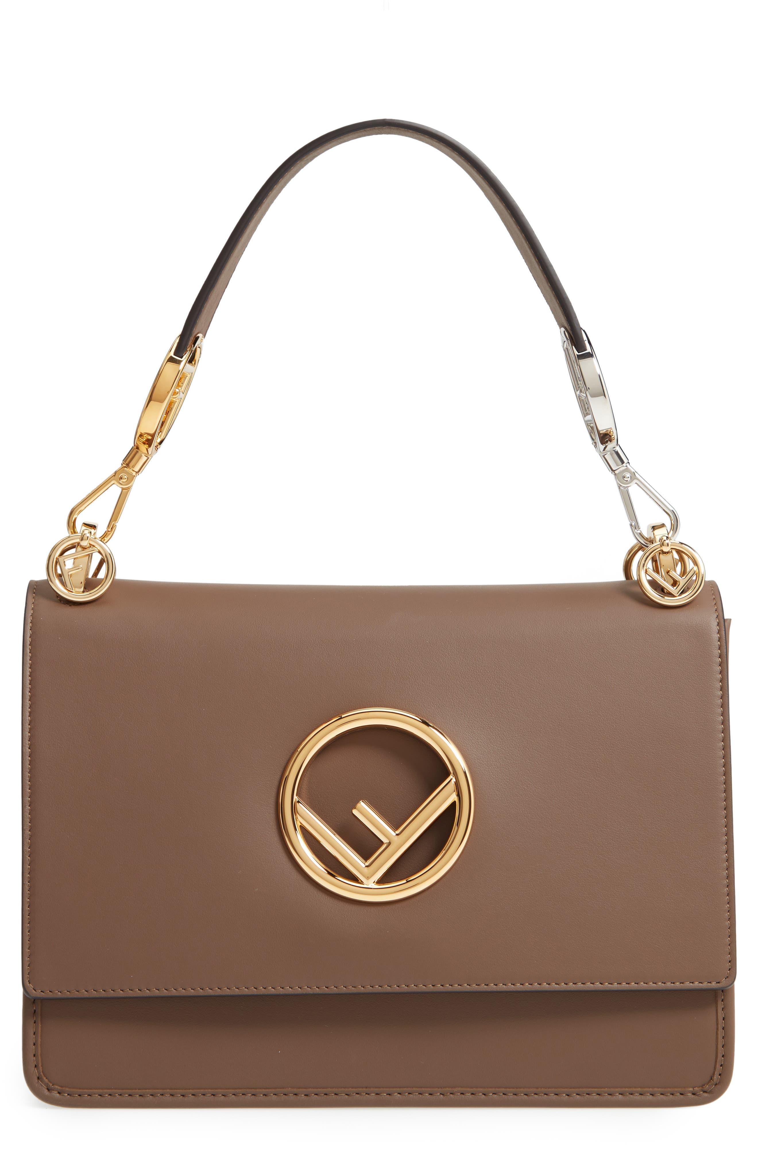 Kan I Calfskin Leather Shoulder Bag,                         Main,                         color, MAYA/ ORO SOFT