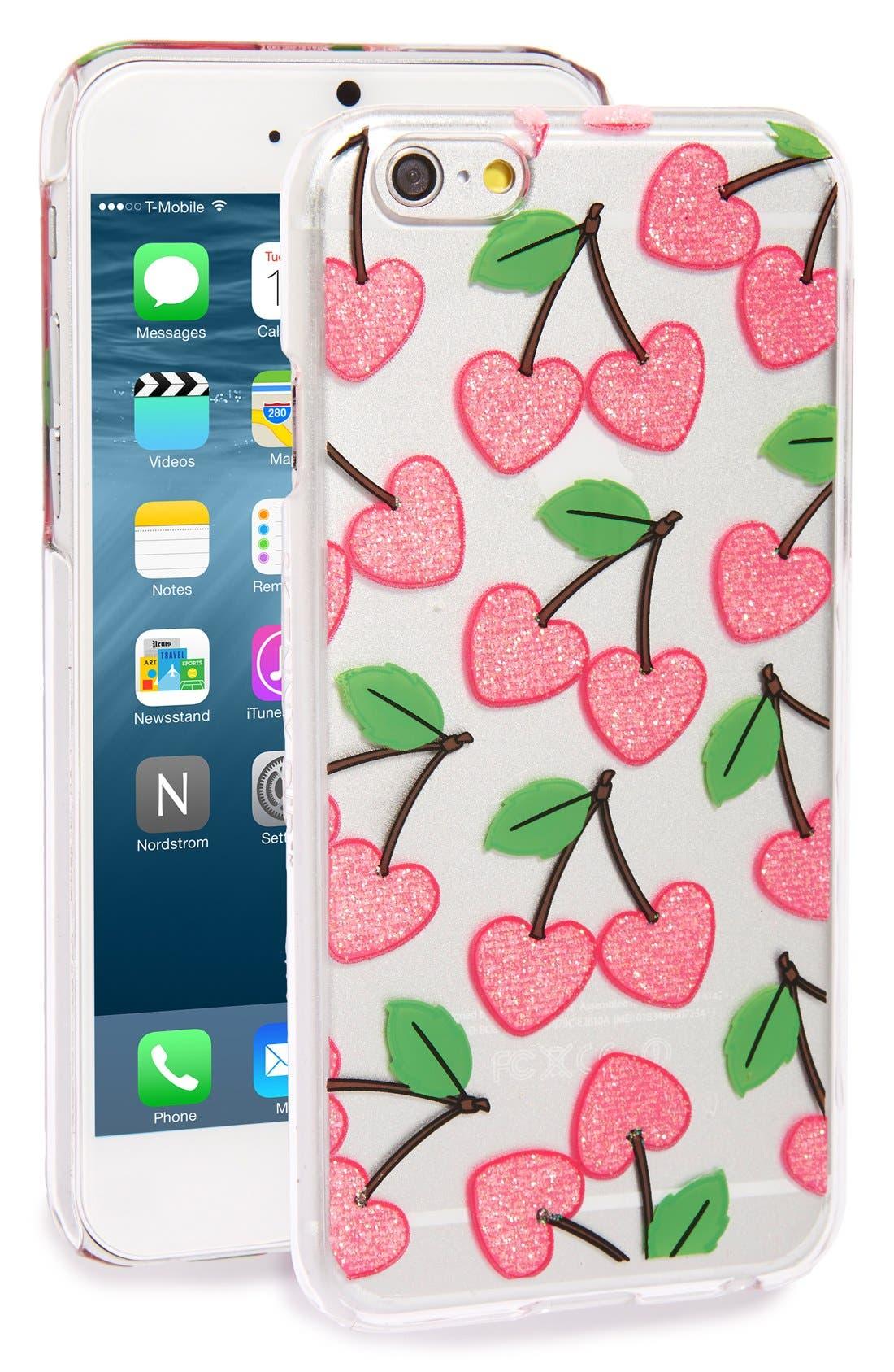 SKINNYDIP,                             'Cherry Heart' iPhone 6 & 6s Case,                             Main thumbnail 1, color,                             650