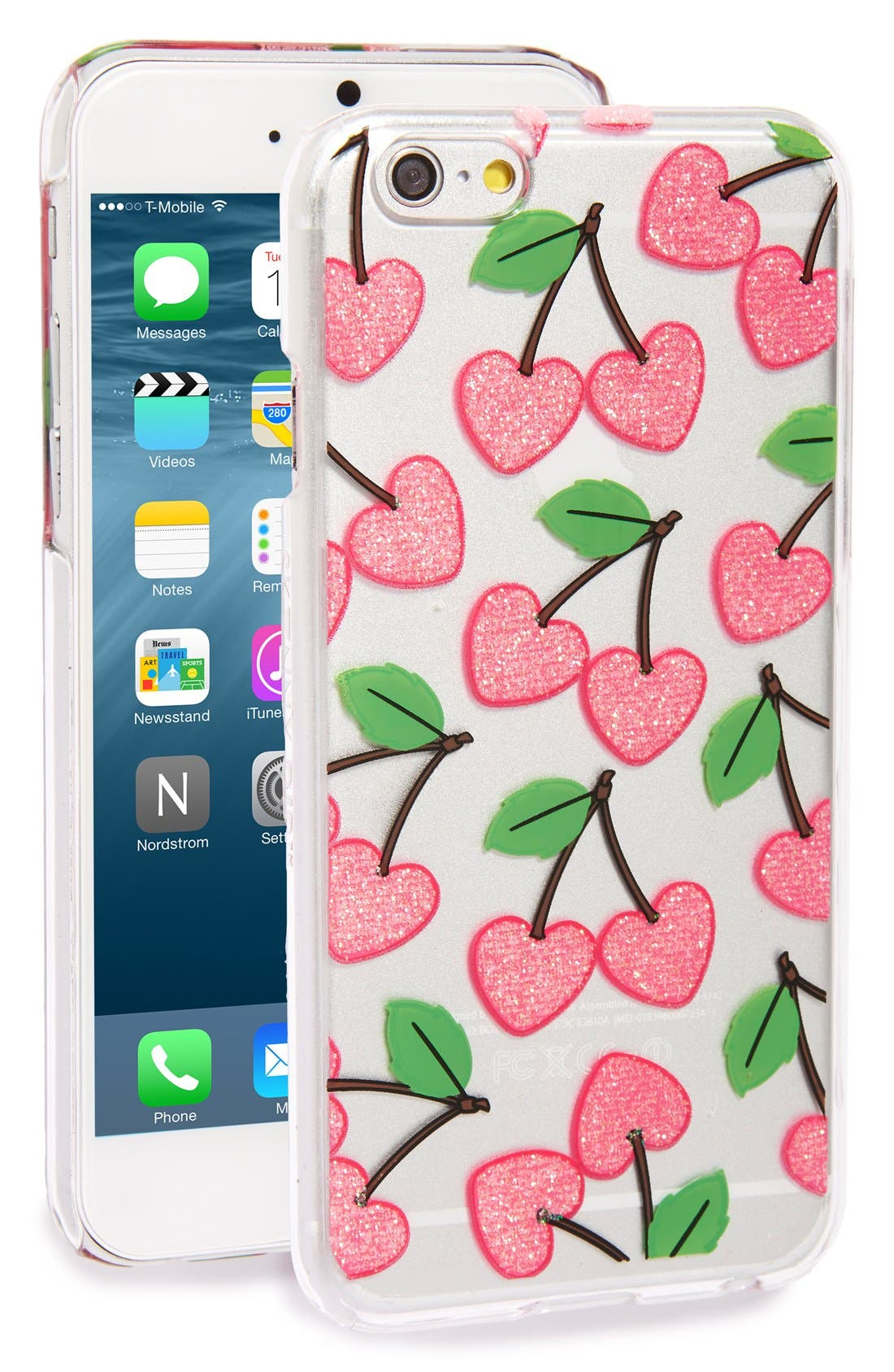 SKINNYDIP 'Cherry Heart' iPhone 6 & 6s Case, Main, color, 650
