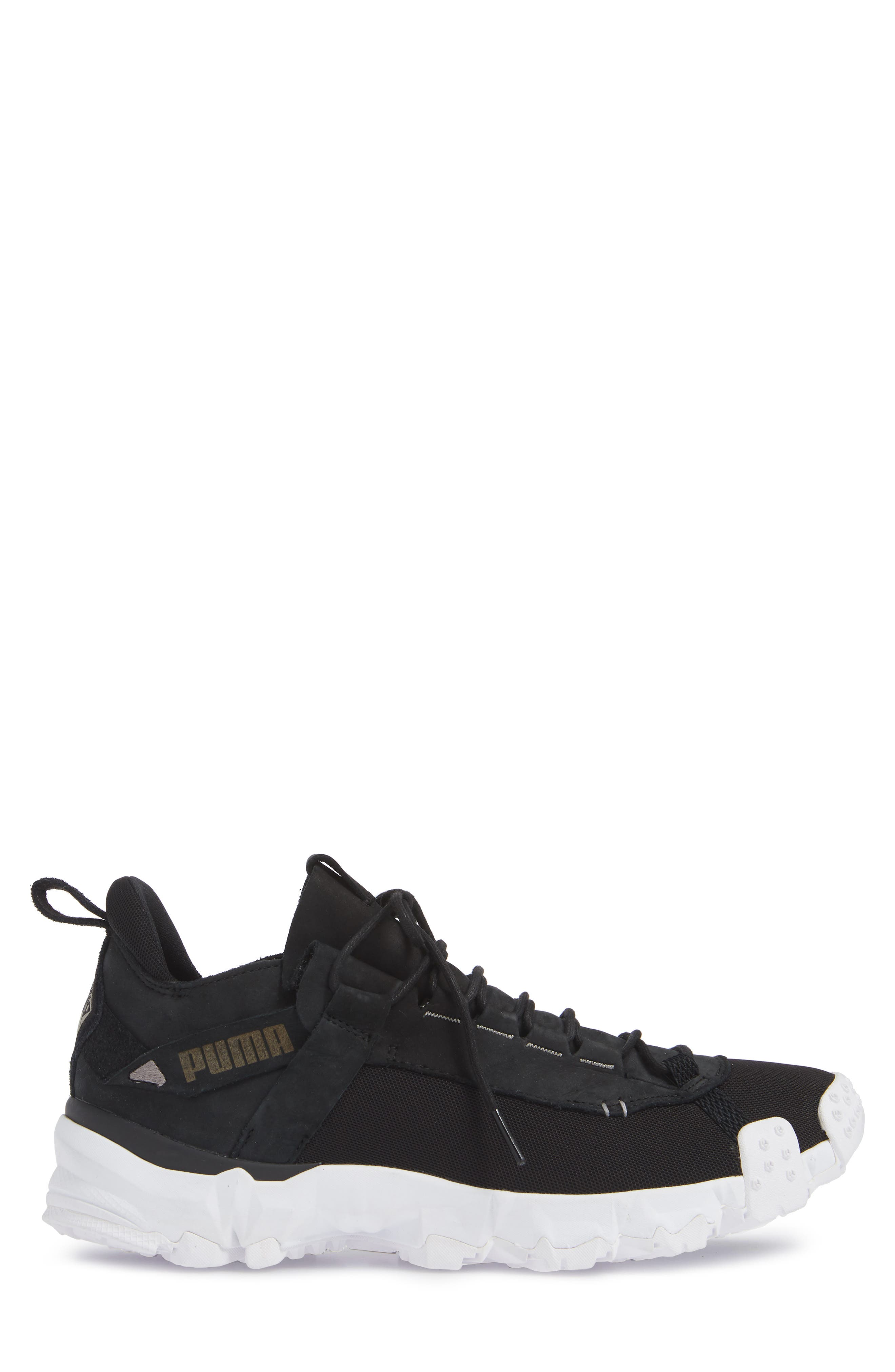 Trailfox Sneaker,                             Alternate thumbnail 3, color,                             BLACK/ WHITE