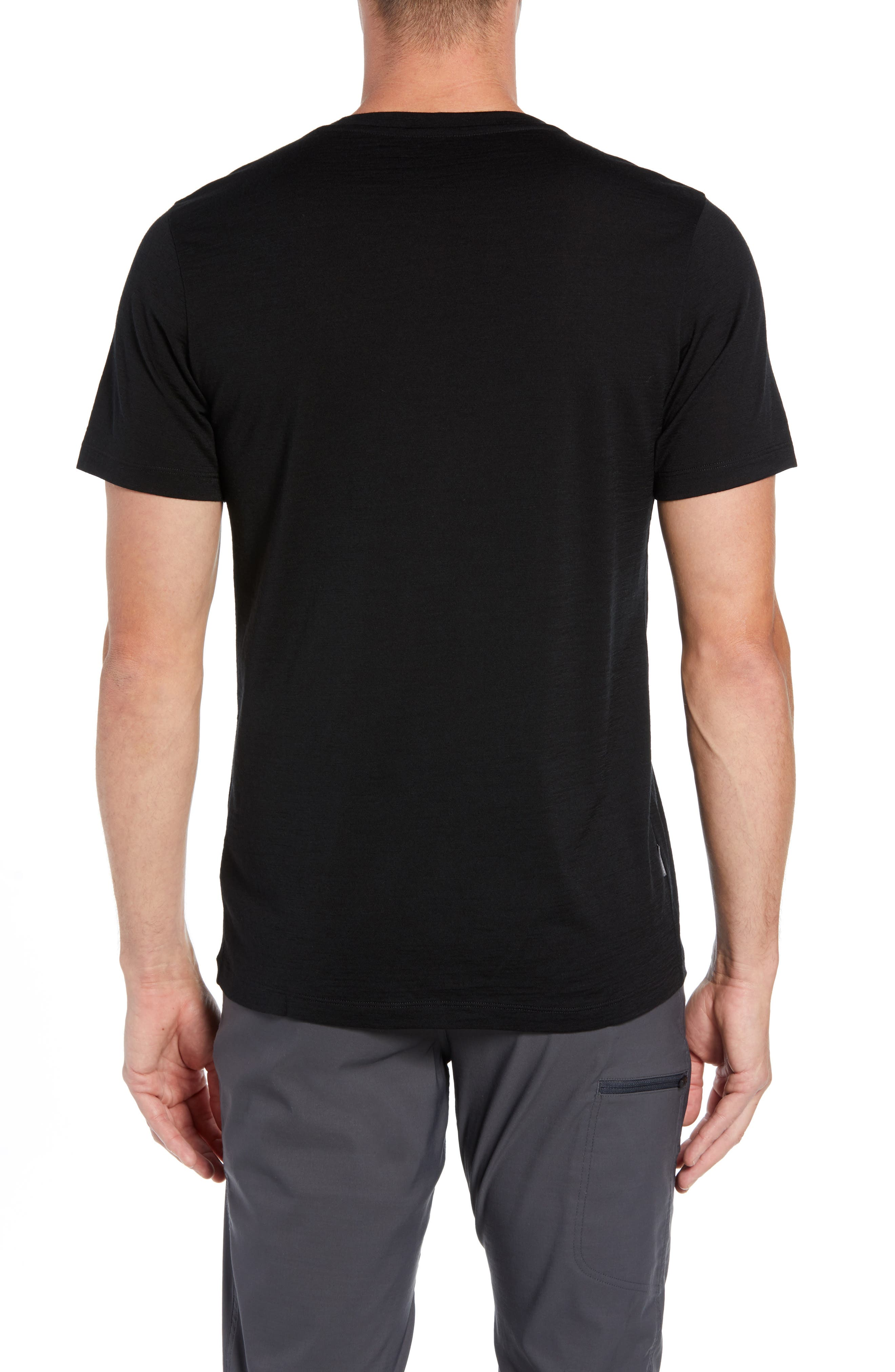 Tech Lite Short Sleeve Crewneck T-Shirt,                             Alternate thumbnail 2, color,                             BLACK