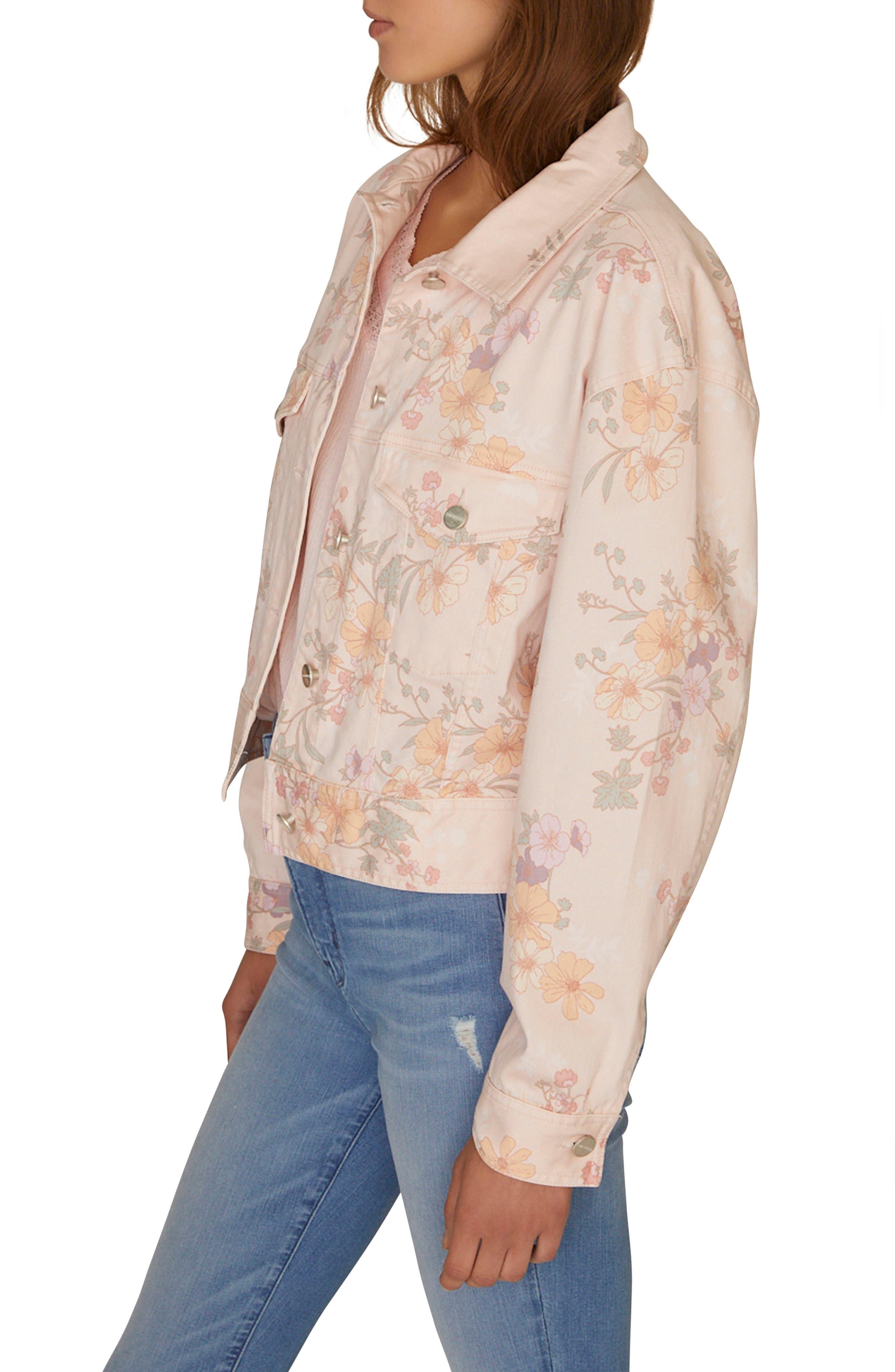 Garden Girl Retro Jacket, Alternate, color, WASHED GARDEN GIRL