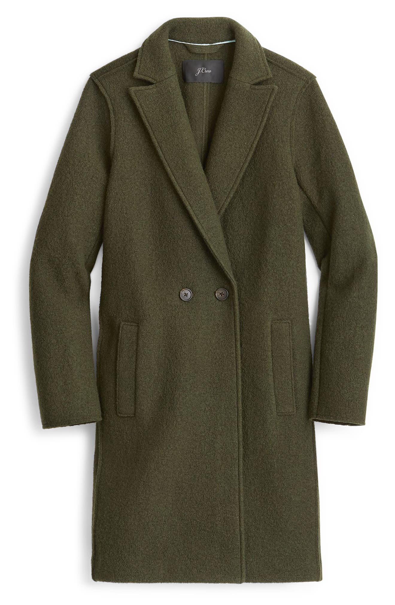 J.CREW,                             Daphne Boiled Wool Topcoat,                             Alternate thumbnail 6, color,                             301