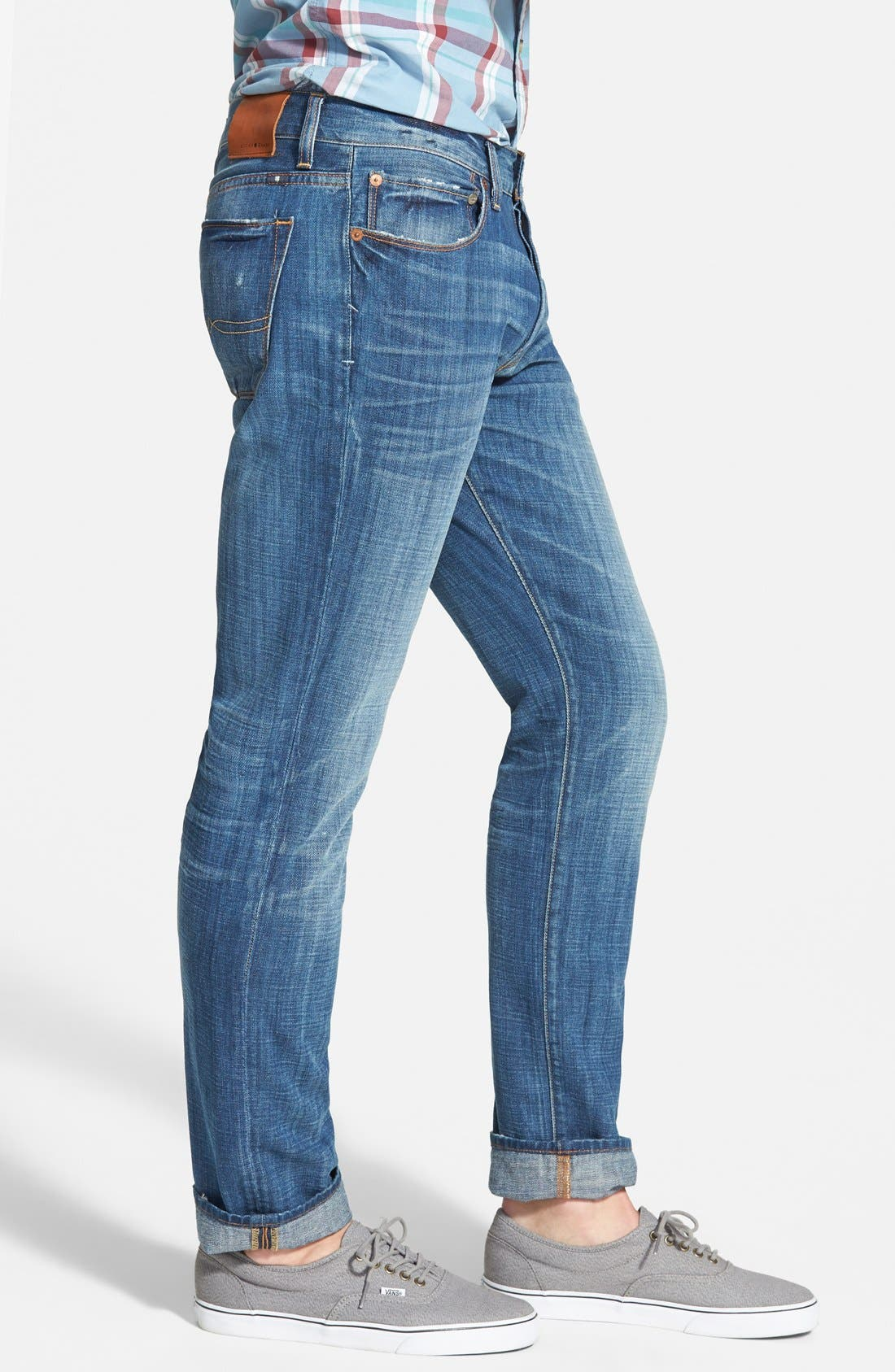 '1 Authentic' Skinny Fit Jeans,                             Alternate thumbnail 3, color,                             420