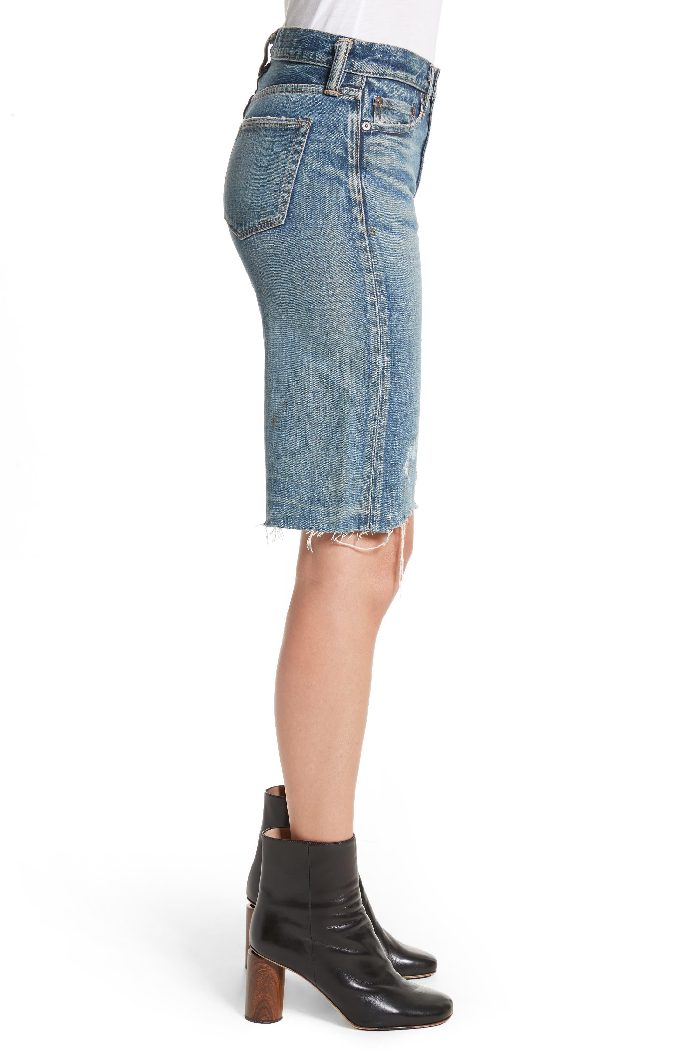 Gannett Denim Shorts,                             Alternate thumbnail 3, color,                             400