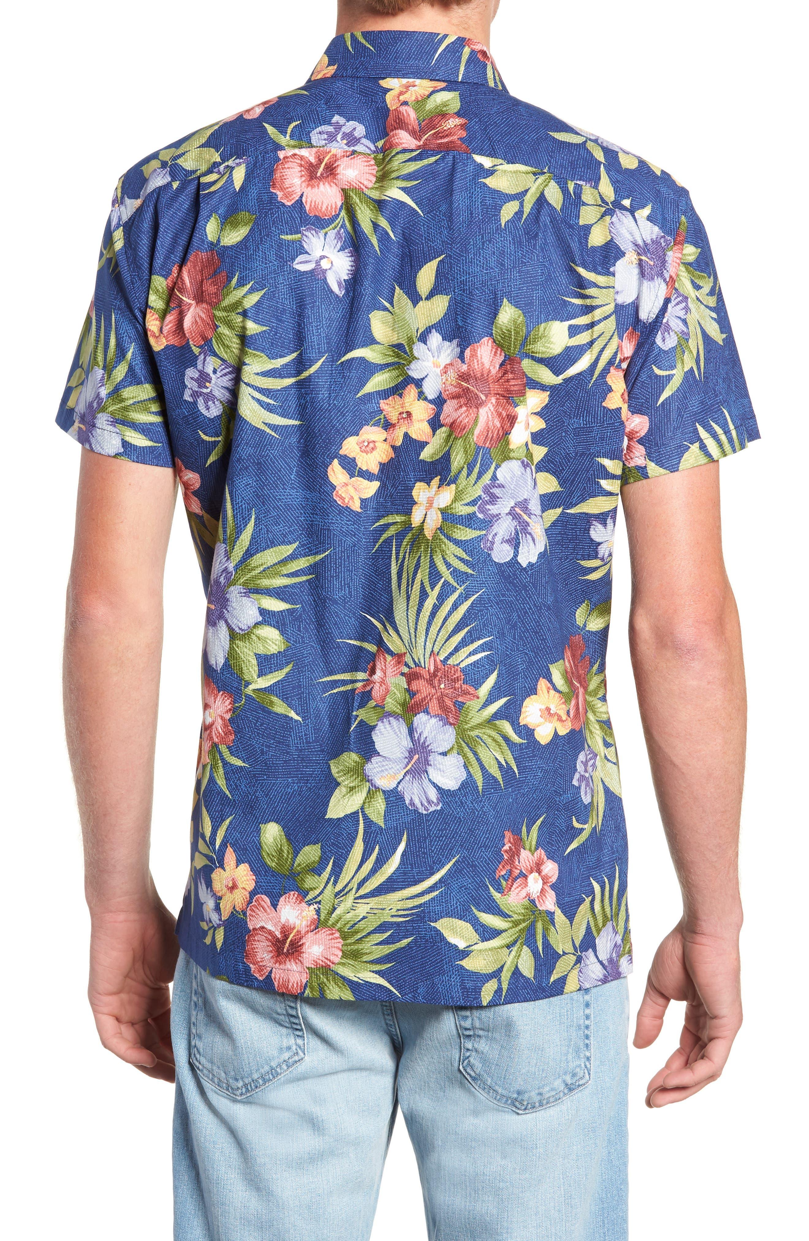 TORI RICHARD,                             Tropical Filter Trim Fit Camp Shirt,                             Alternate thumbnail 2, color,                             415