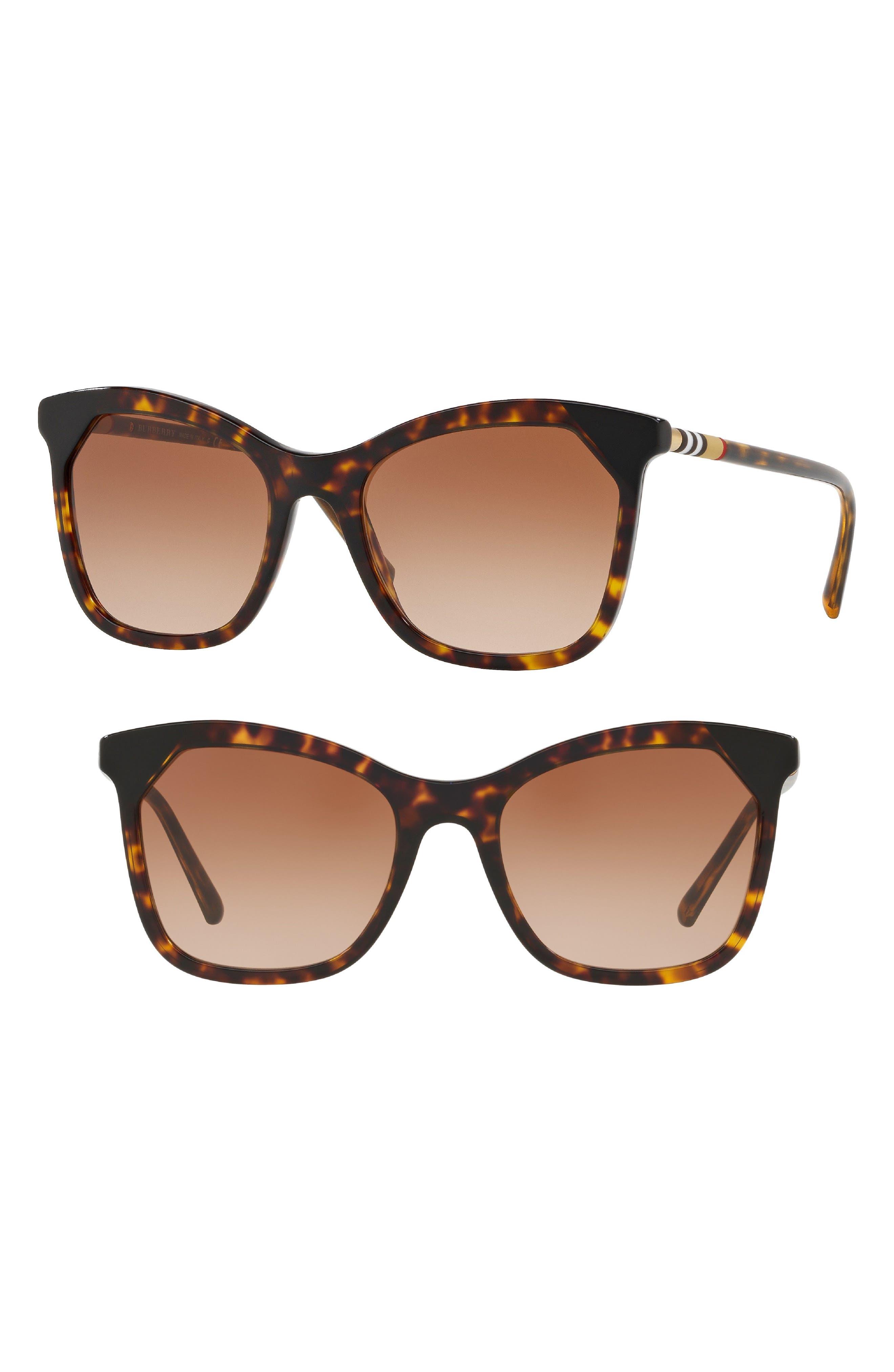 Heritage 54mm Square Sunglasses,                             Main thumbnail 4, color,