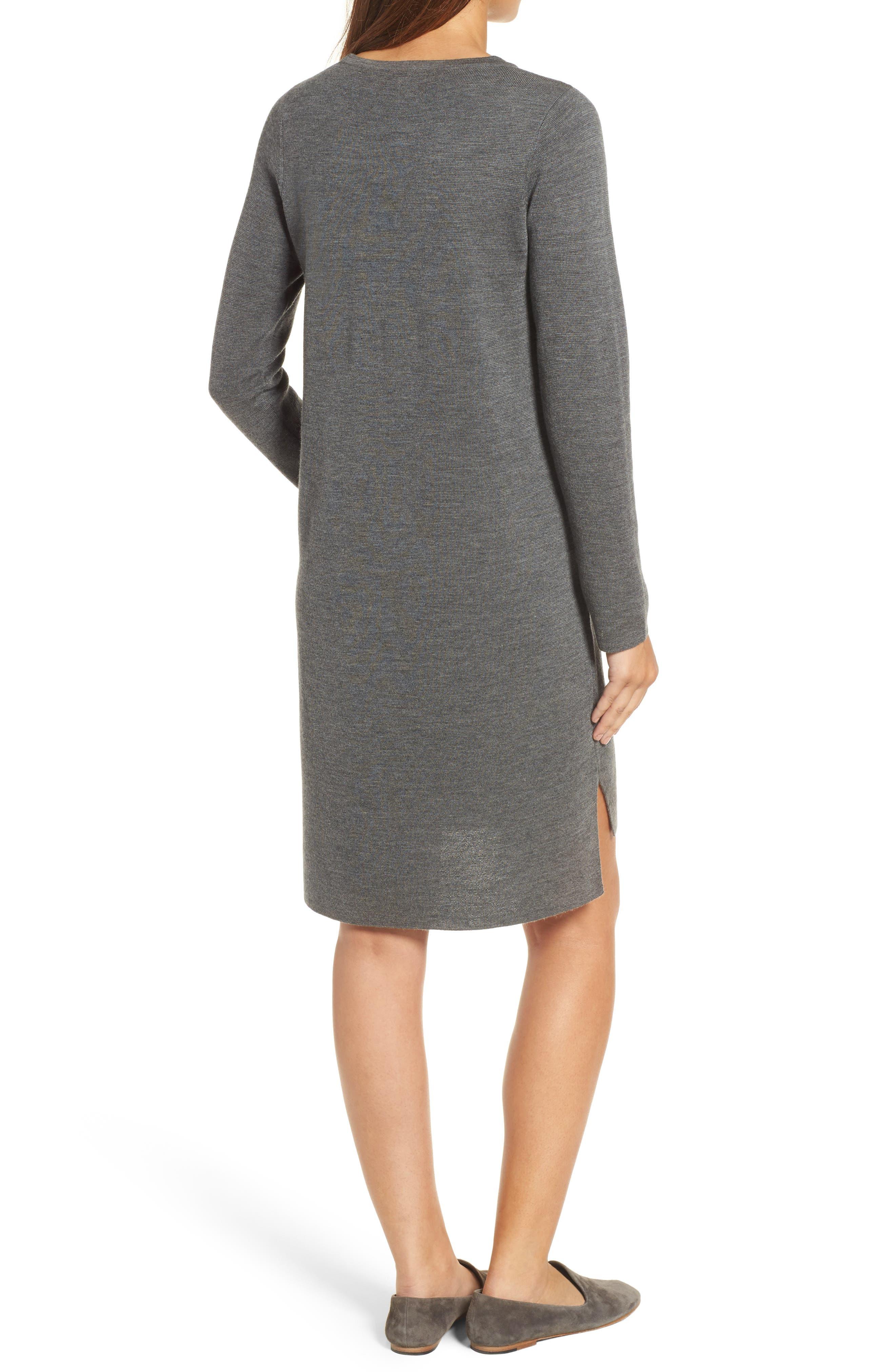 Merino Wool Sweater Dress,                             Alternate thumbnail 7, color,