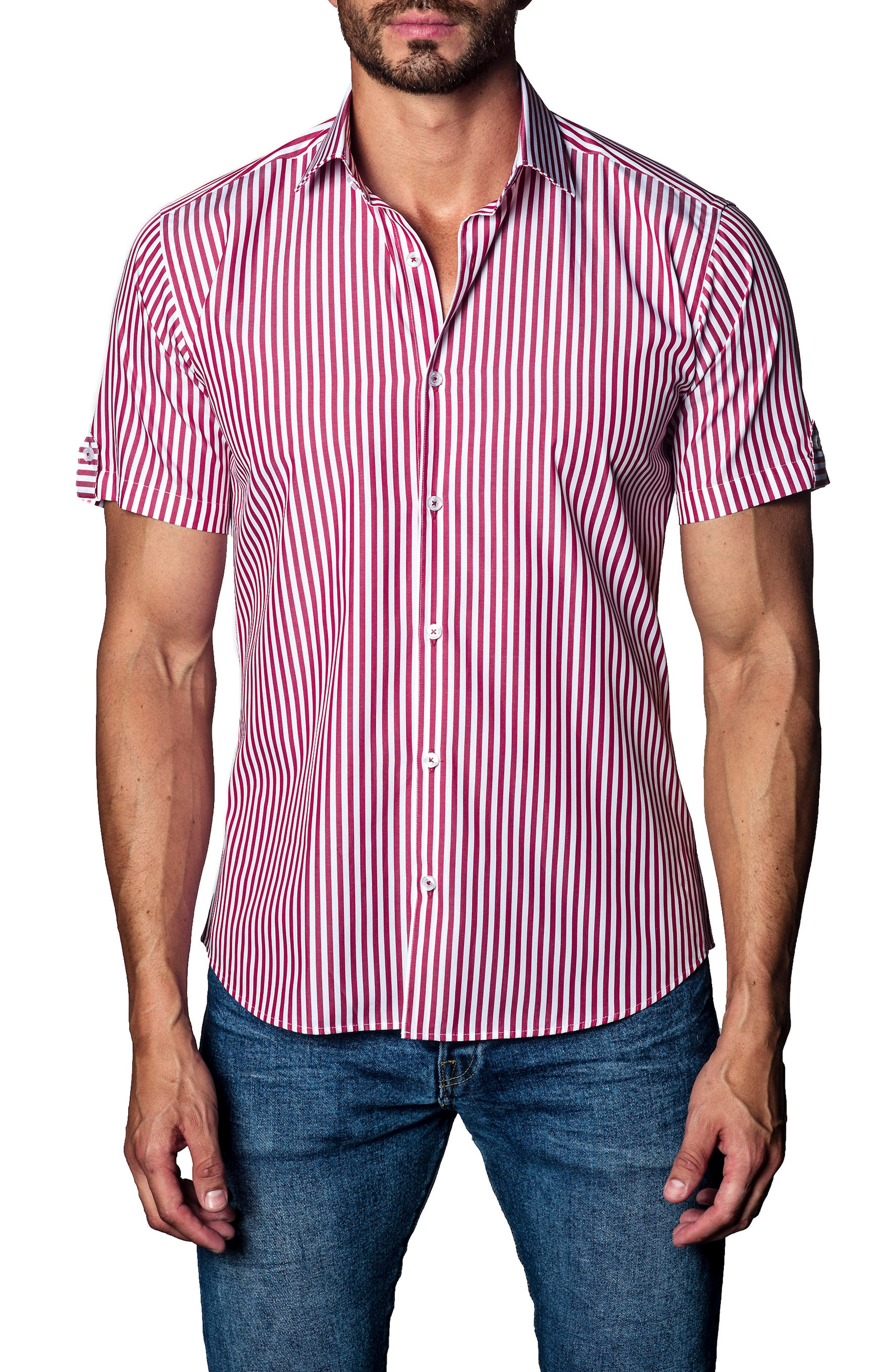 Stripe Sport Shirt,                         Main,                         color, 640