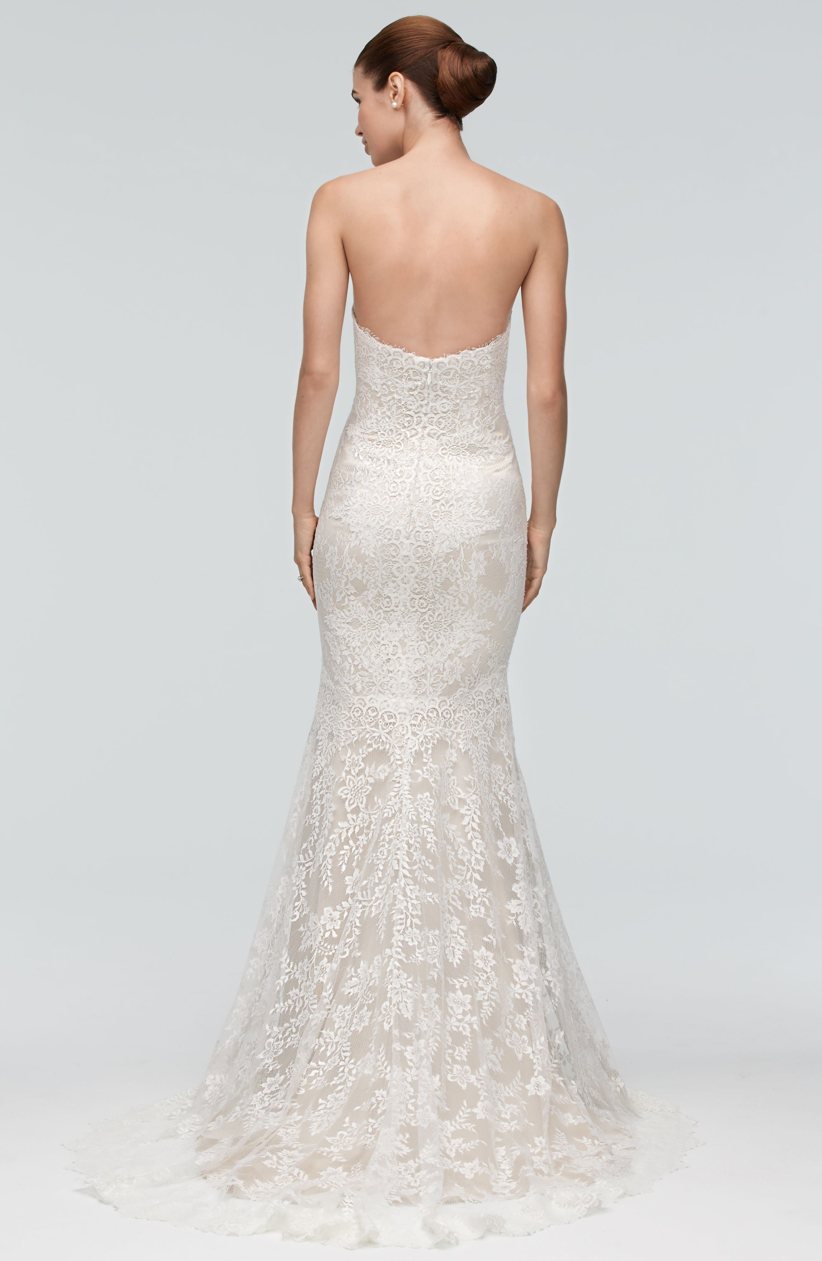 Oma Lace Trumpet Gown,                             Alternate thumbnail 2, color,                             900