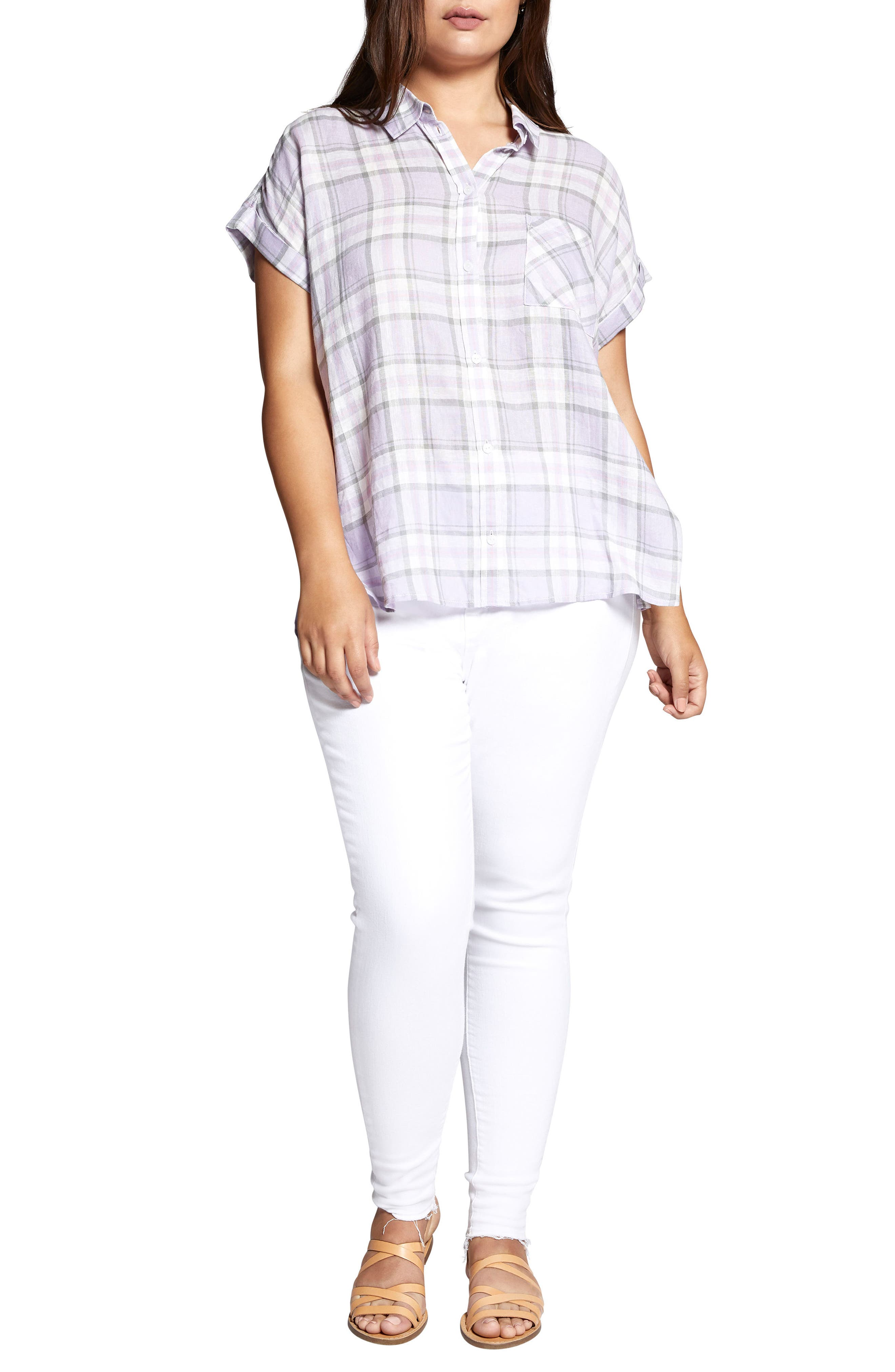 Mod Short Sleeve Boyfriend Shirt,                             Alternate thumbnail 4, color,                             513