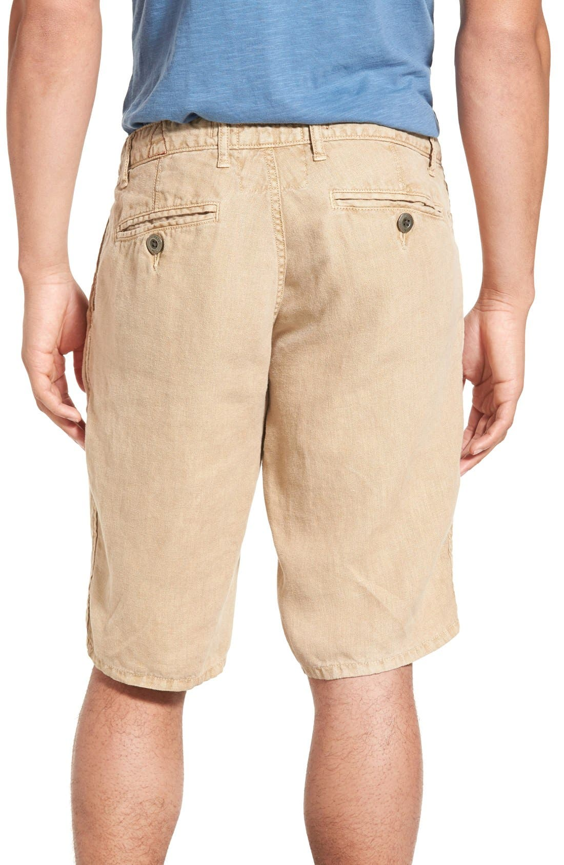 'Havana' Linen Shorts,                             Alternate thumbnail 38, color,