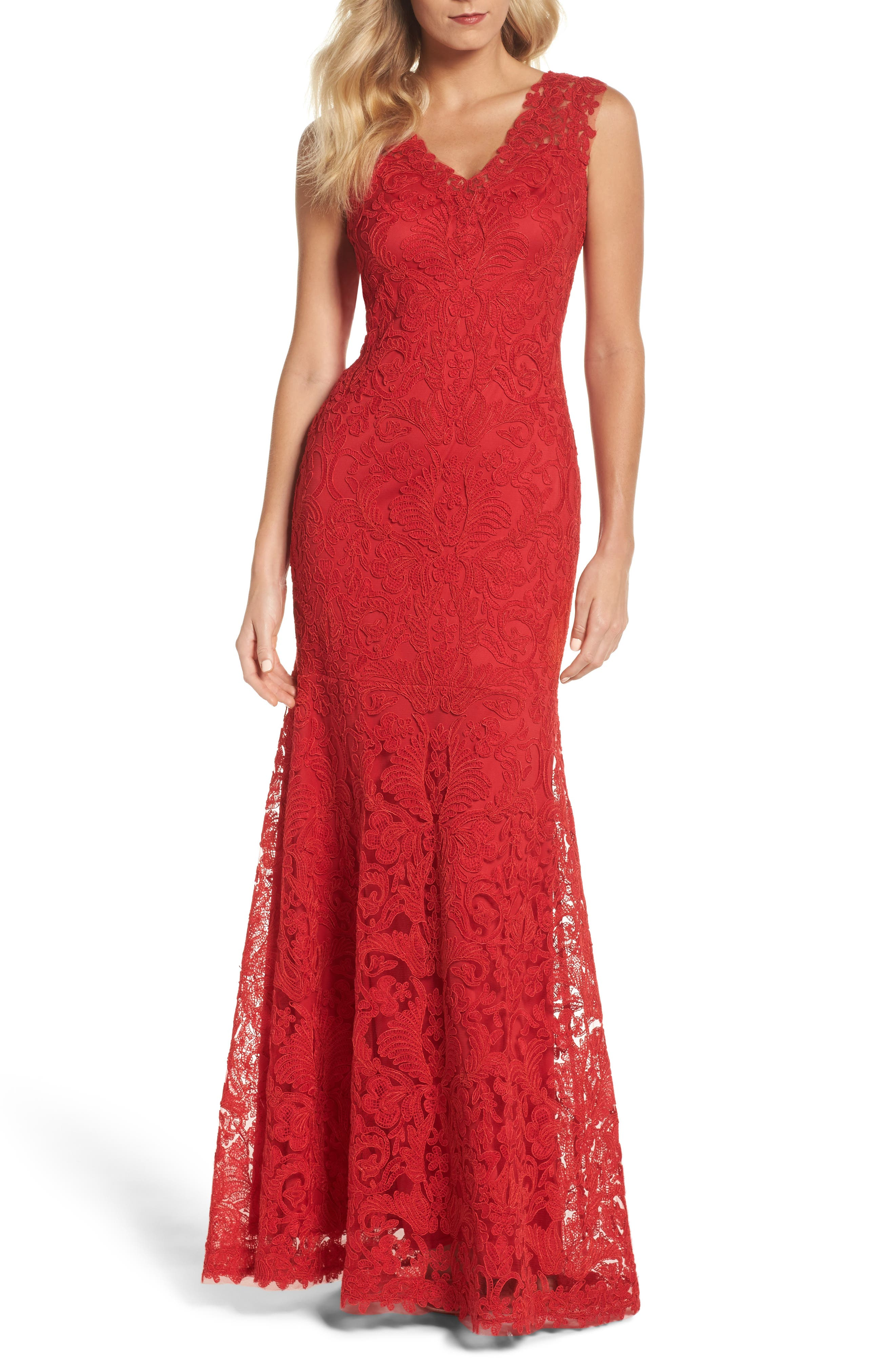Kelly Embroidered Mermaid Gown,                         Main,                         color, 611