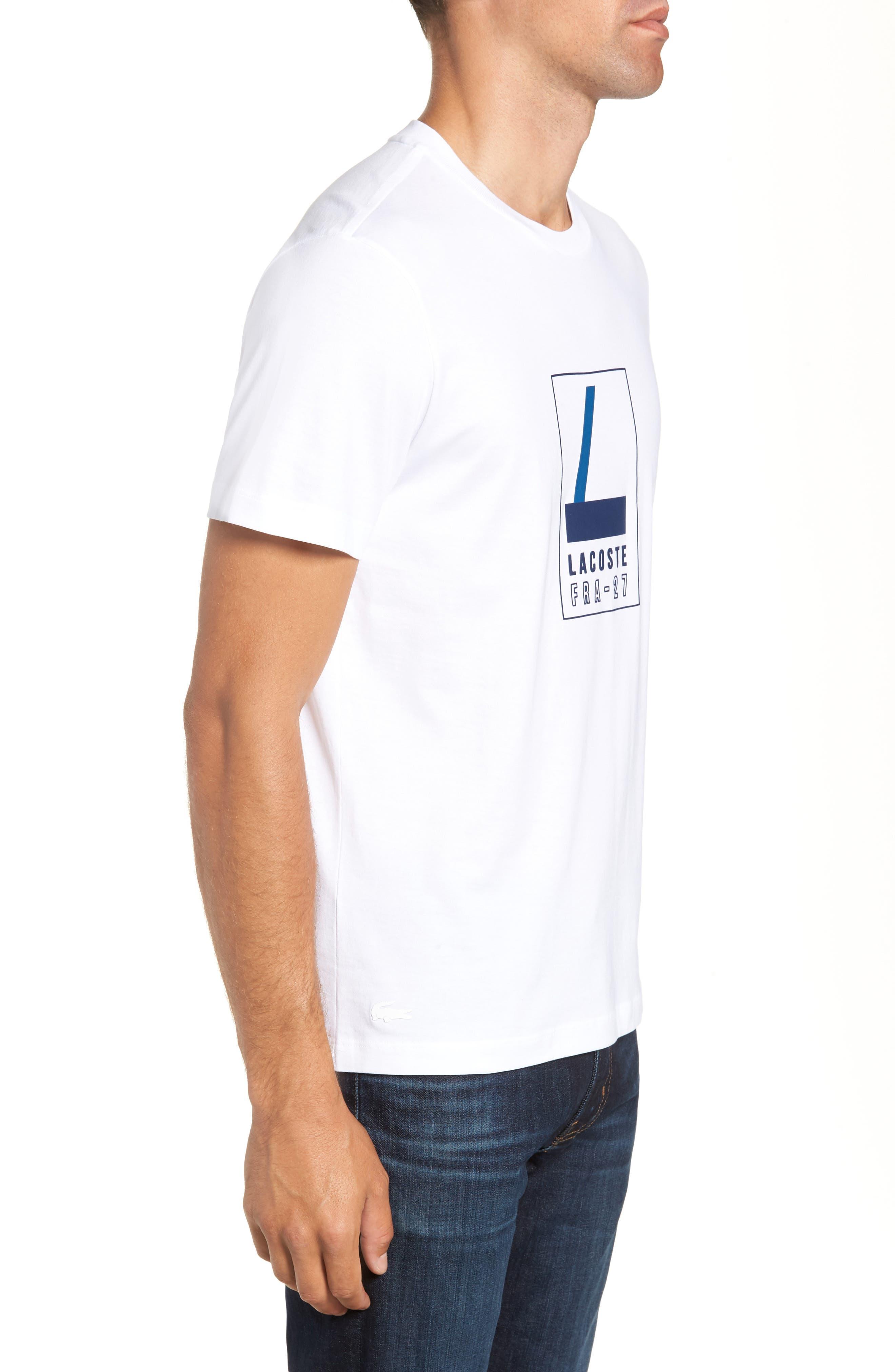 Regular Fit Heritage Graphic T-Shirt,                             Alternate thumbnail 3, color,                             WHITE