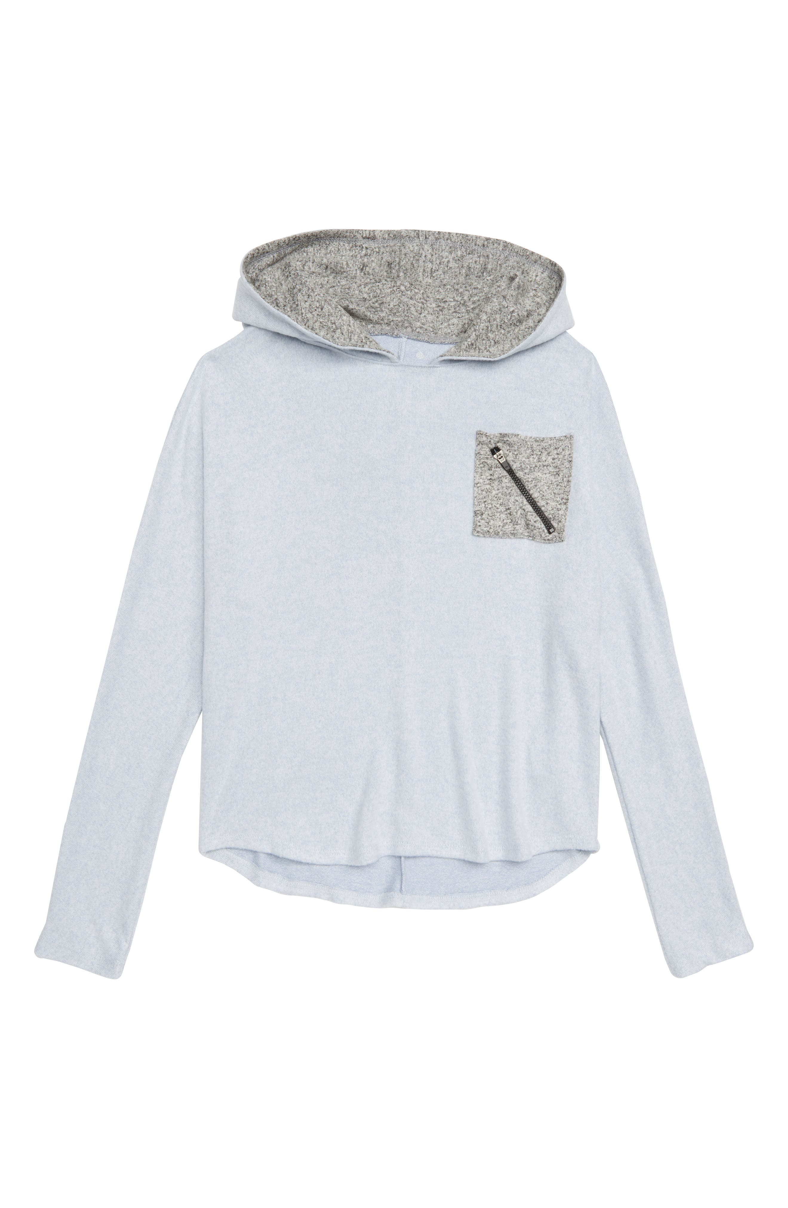 Contrast Pocket Hooded Pullover,                             Main thumbnail 1, color,                             420