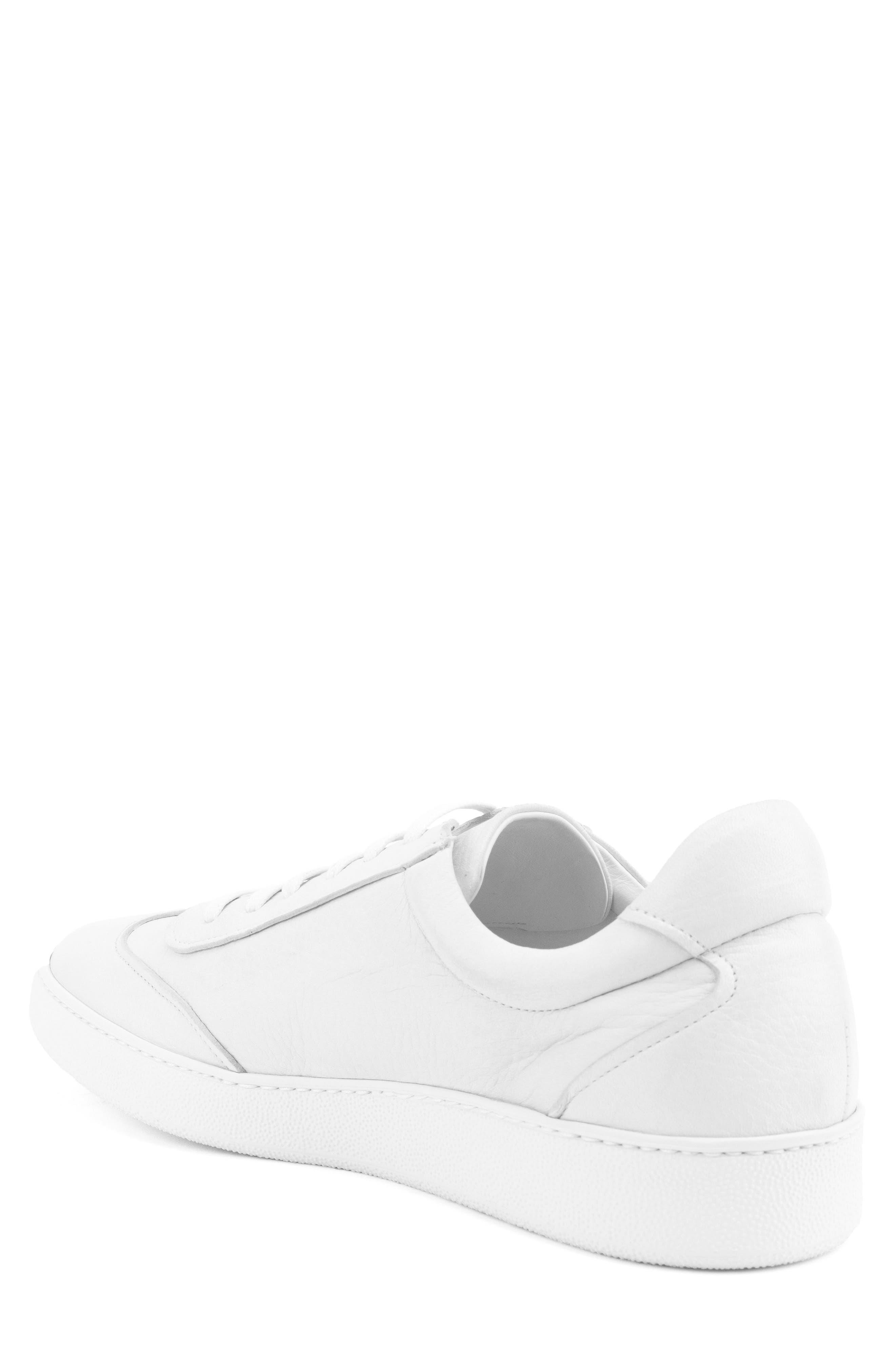 Tristan Sneaker,                             Alternate thumbnail 2, color,                             WHITE LEATHER