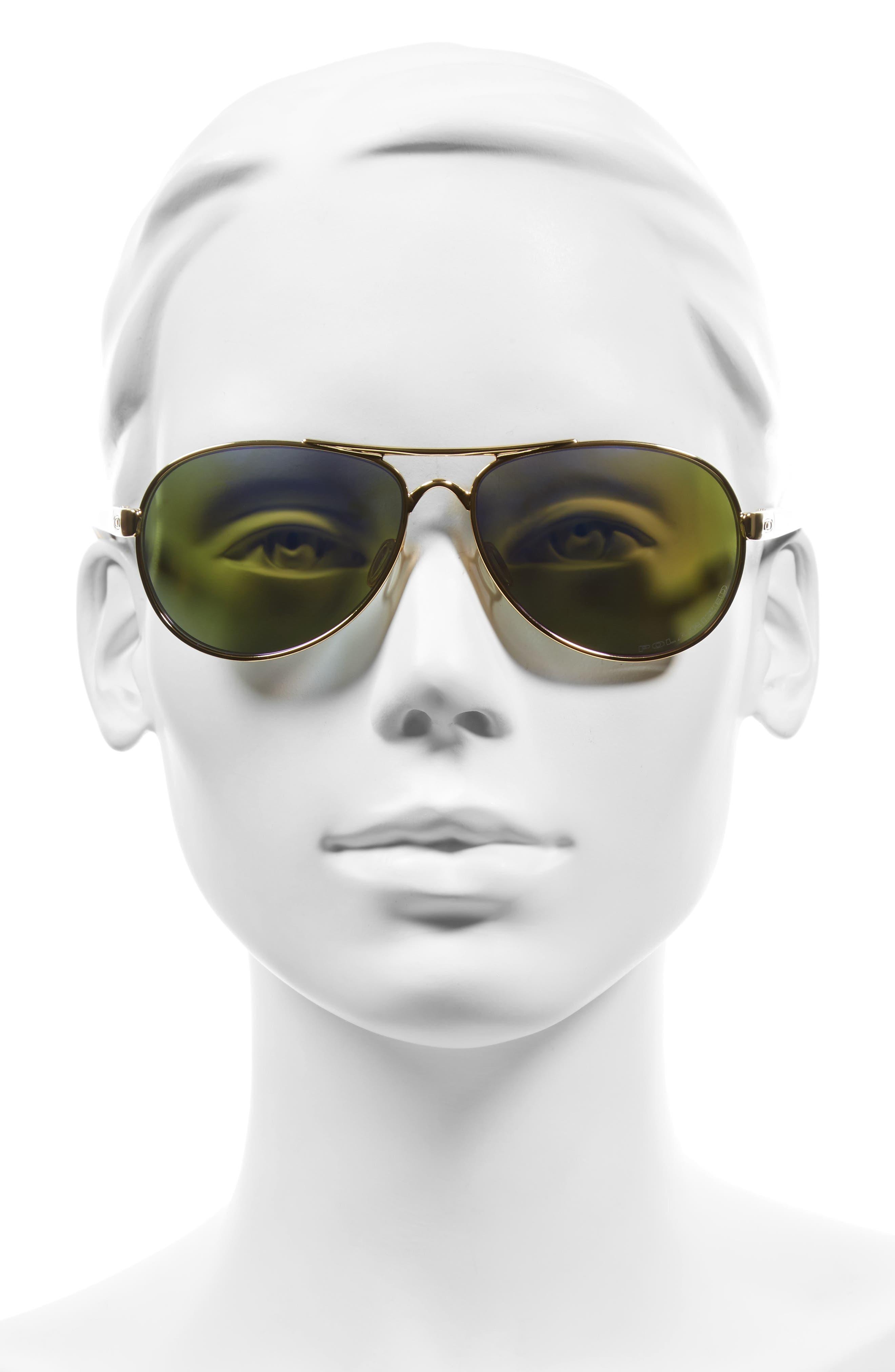 Tie Breaker 55mm Polarized Sunglasses,                             Alternate thumbnail 4, color,