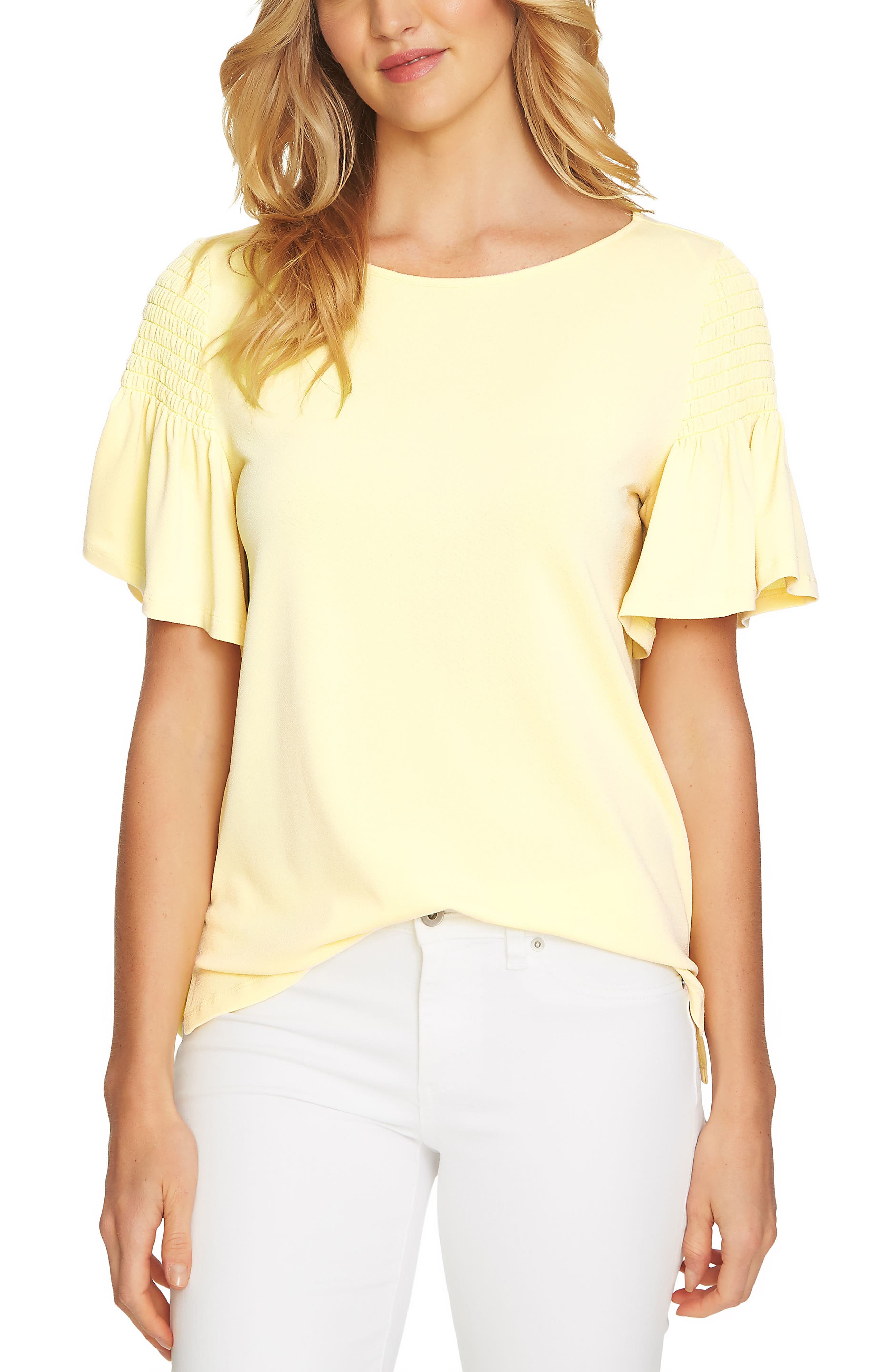 Flutter Sleeve Crepe Top,                         Main,                         color, 729
