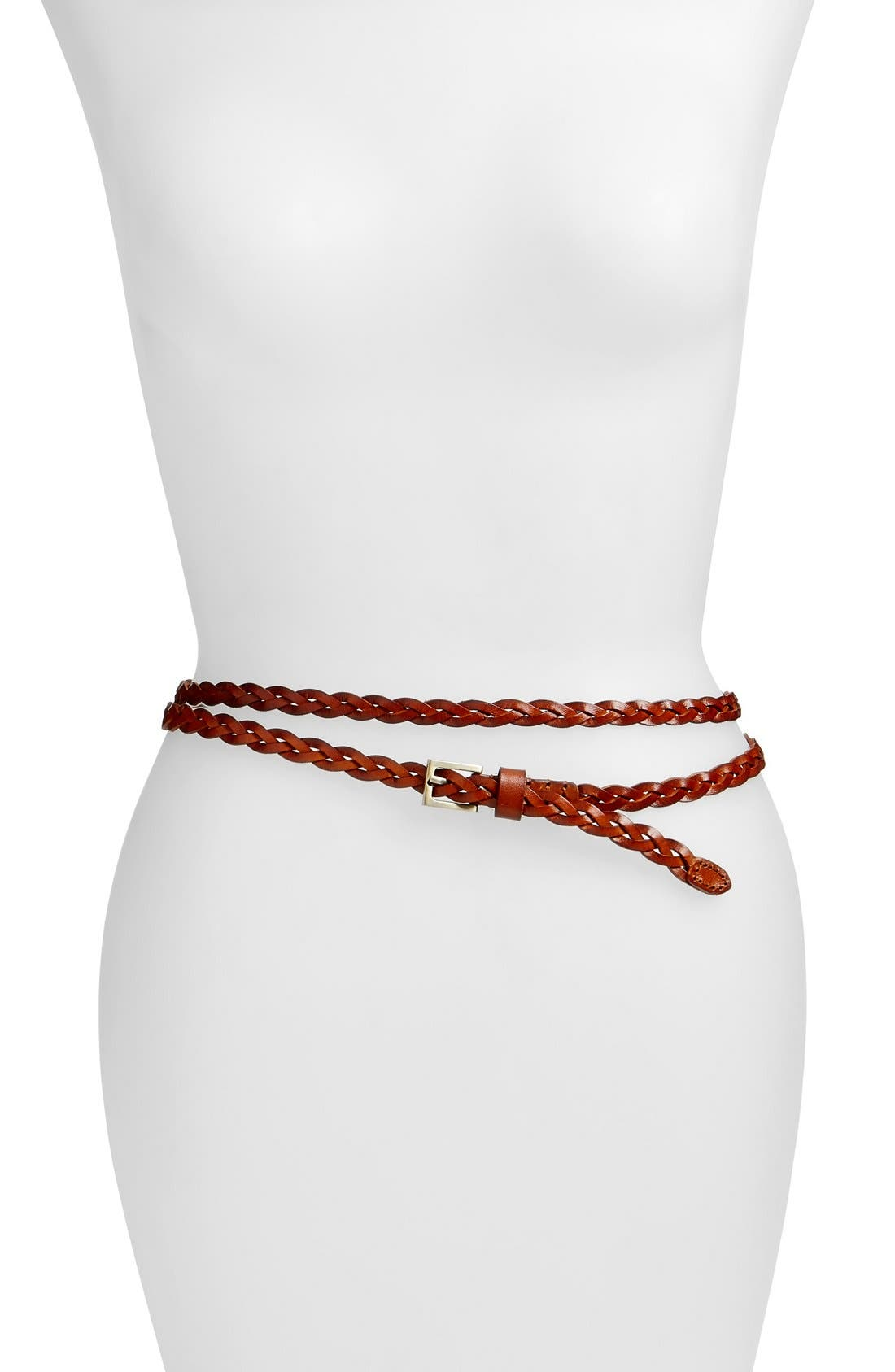 'Florence' Calfskin Leather Double Wrap Belt,                             Main thumbnail 2, color,