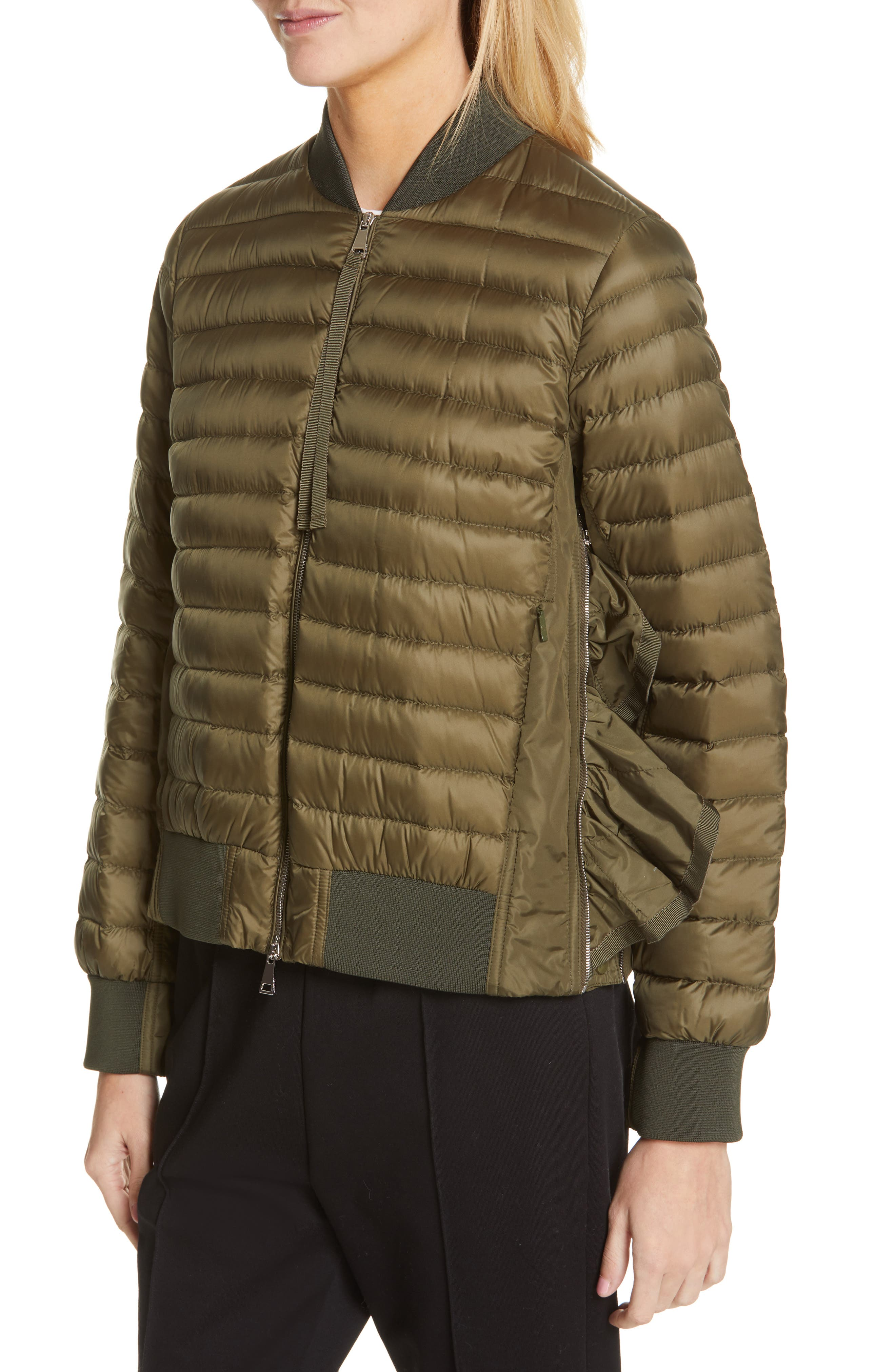 MONCLER,                             Rome Quilted Down Jacket,                             Alternate thumbnail 5, color,                             DARK GREEN