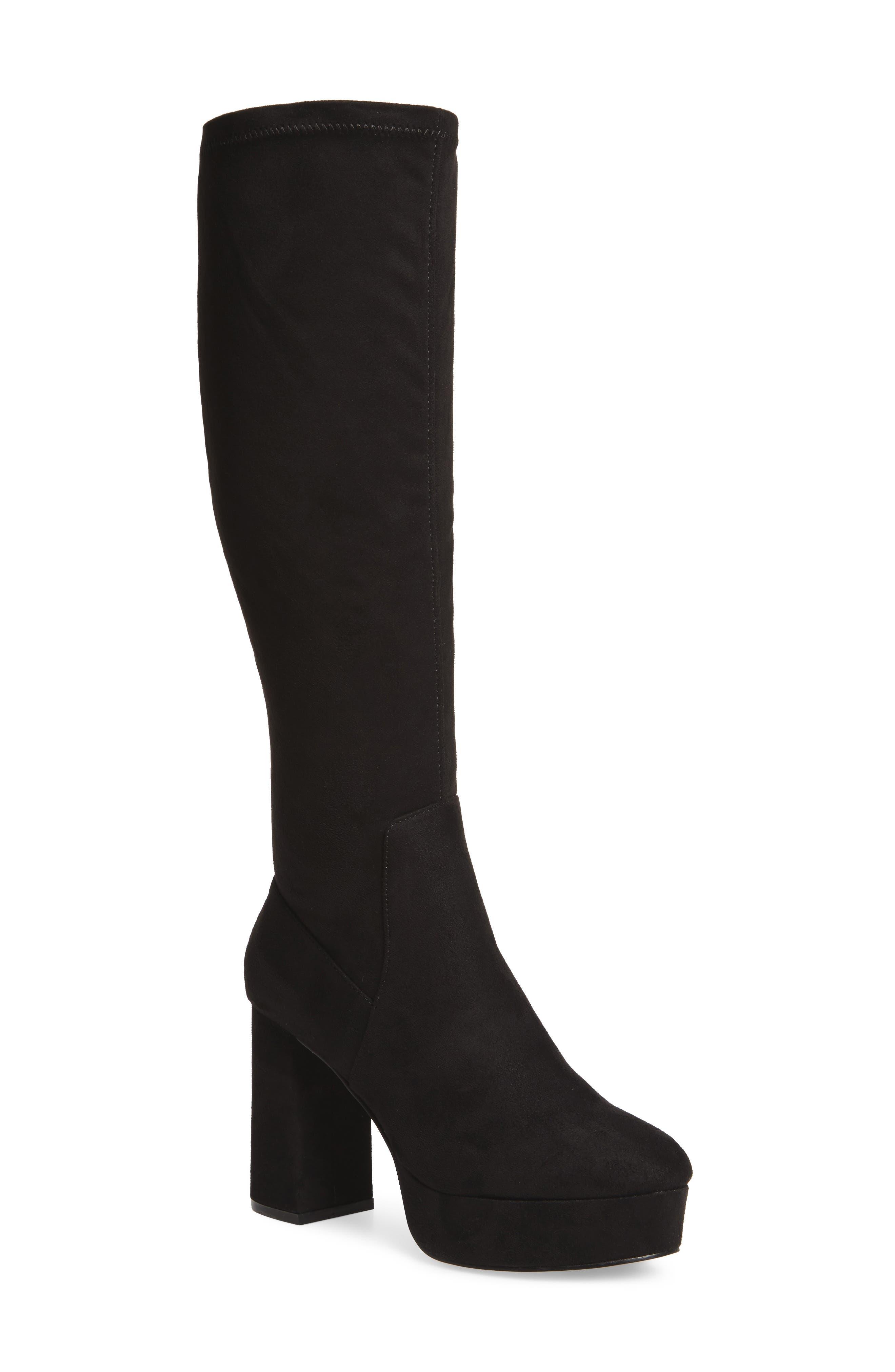 Nancy Knee High Platform Boot,                         Main,                         color, 001