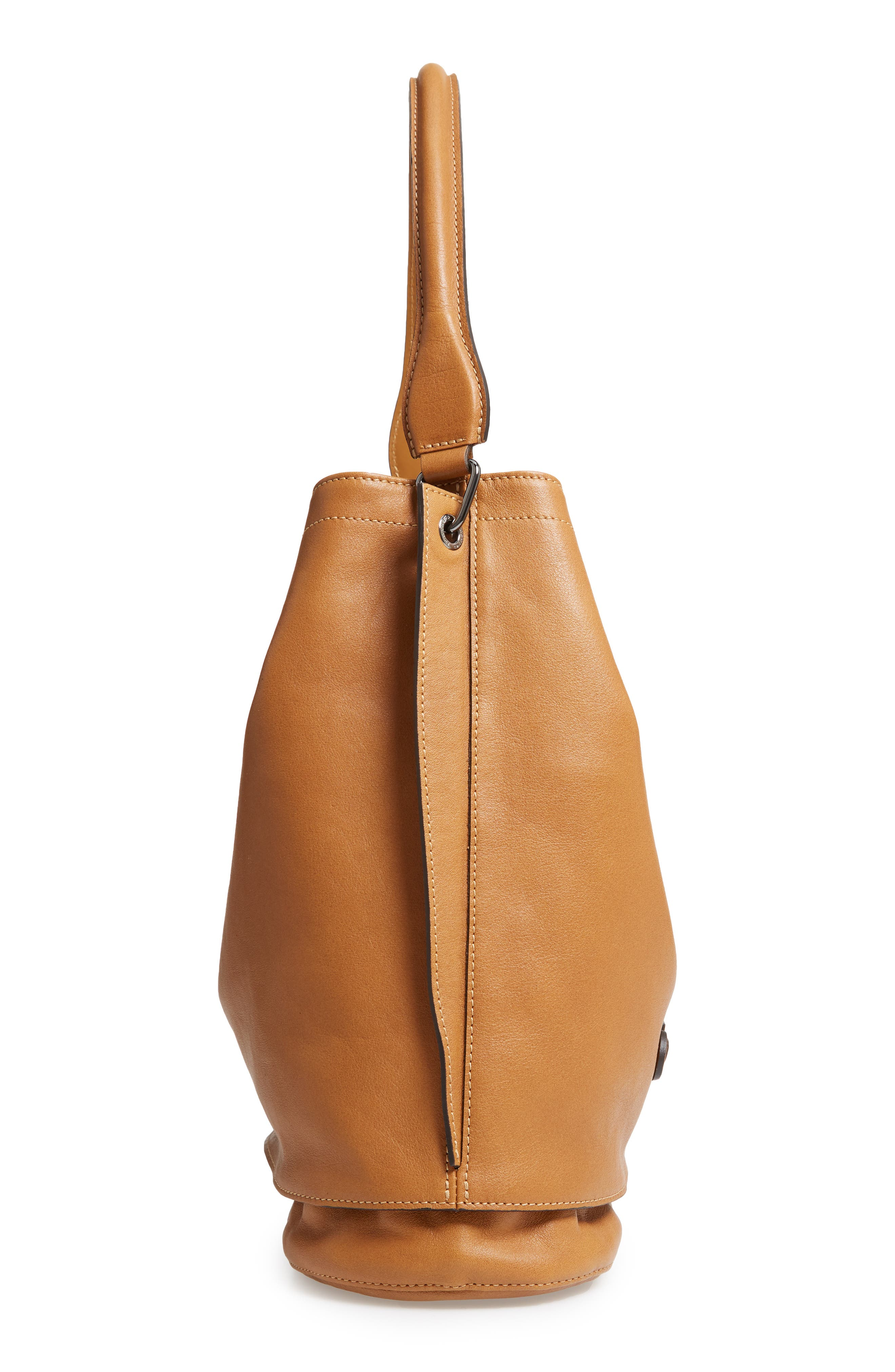 '3D' Leather Hobo,                             Alternate thumbnail 5, color,                             NATURAL