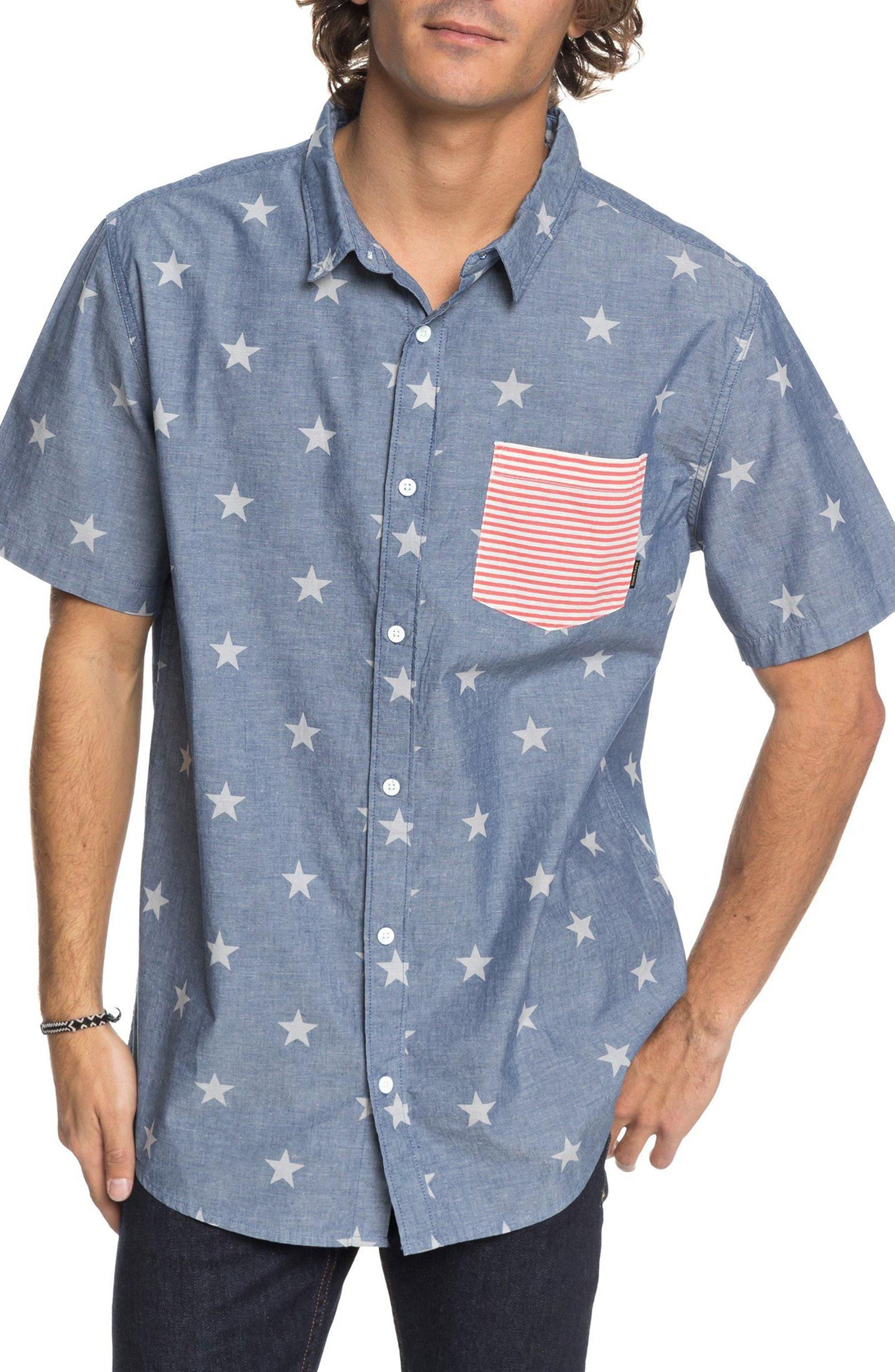 4th of July Woven Shirt,                             Main thumbnail 1, color,                             412