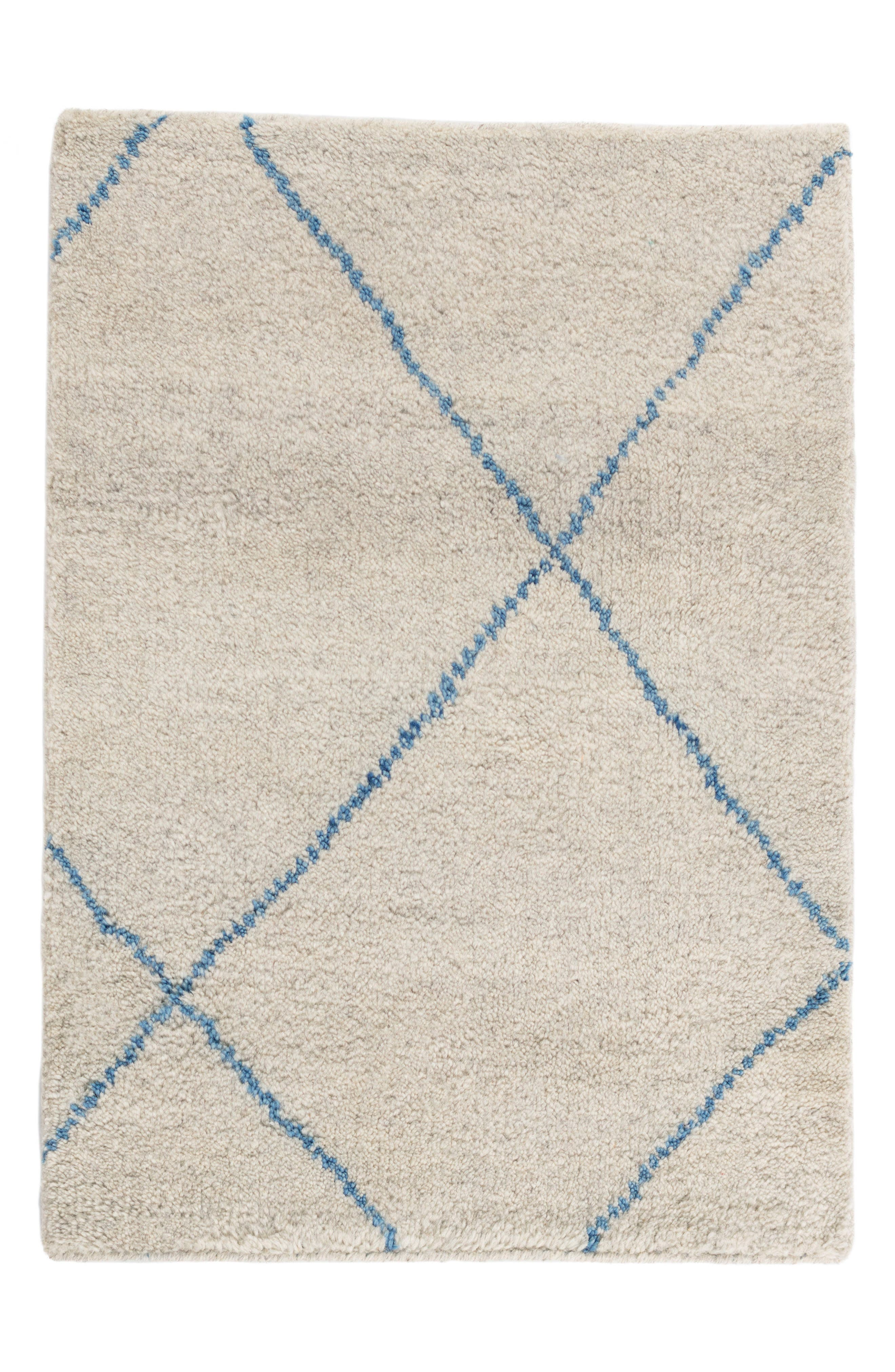 Numa Hand Knotted Wool-Blend Rug,                         Main,                         color, 400