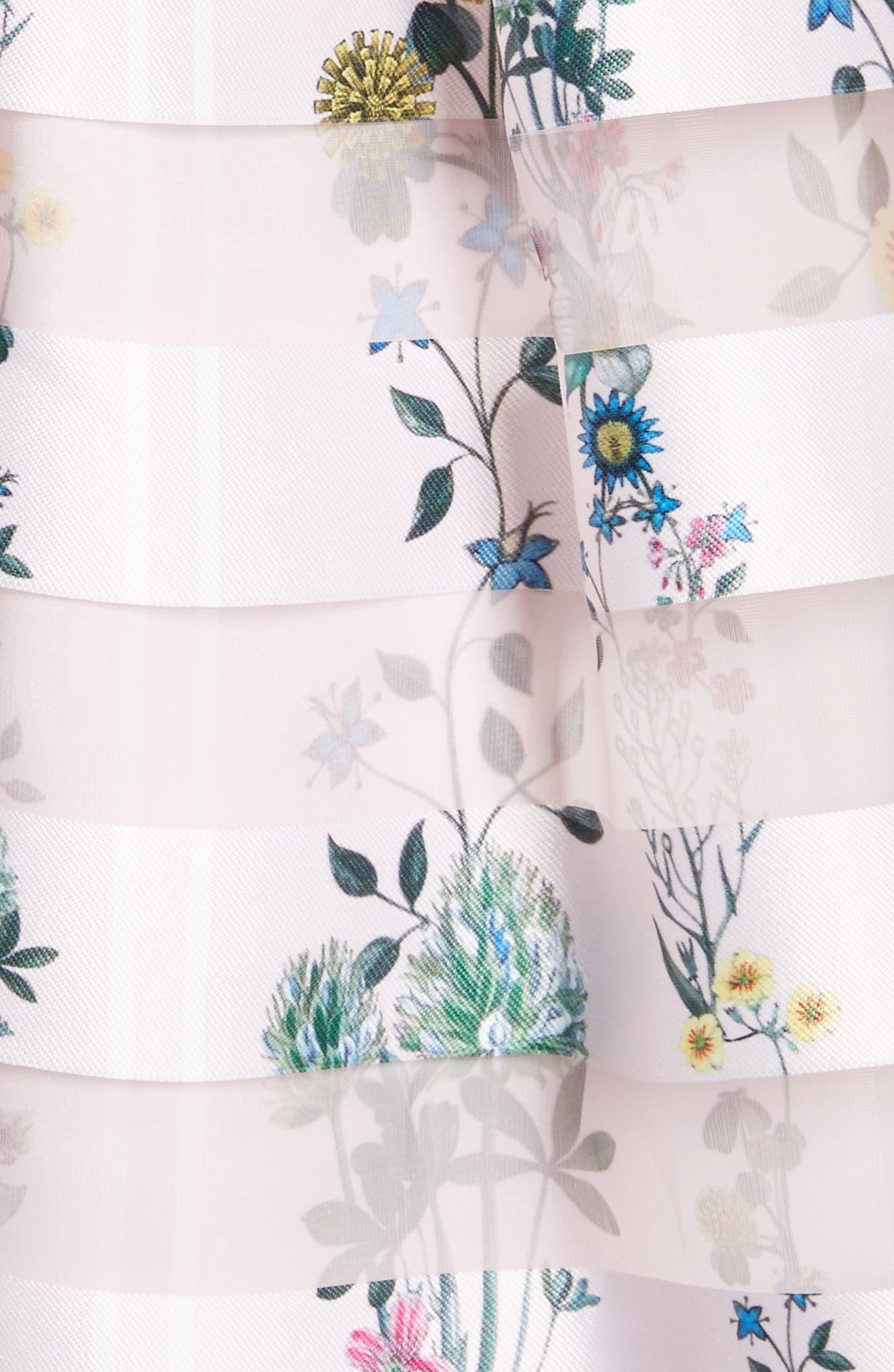 Lulou Unity Floral Off the Shoulder Dress,                             Alternate thumbnail 5, color,                             672