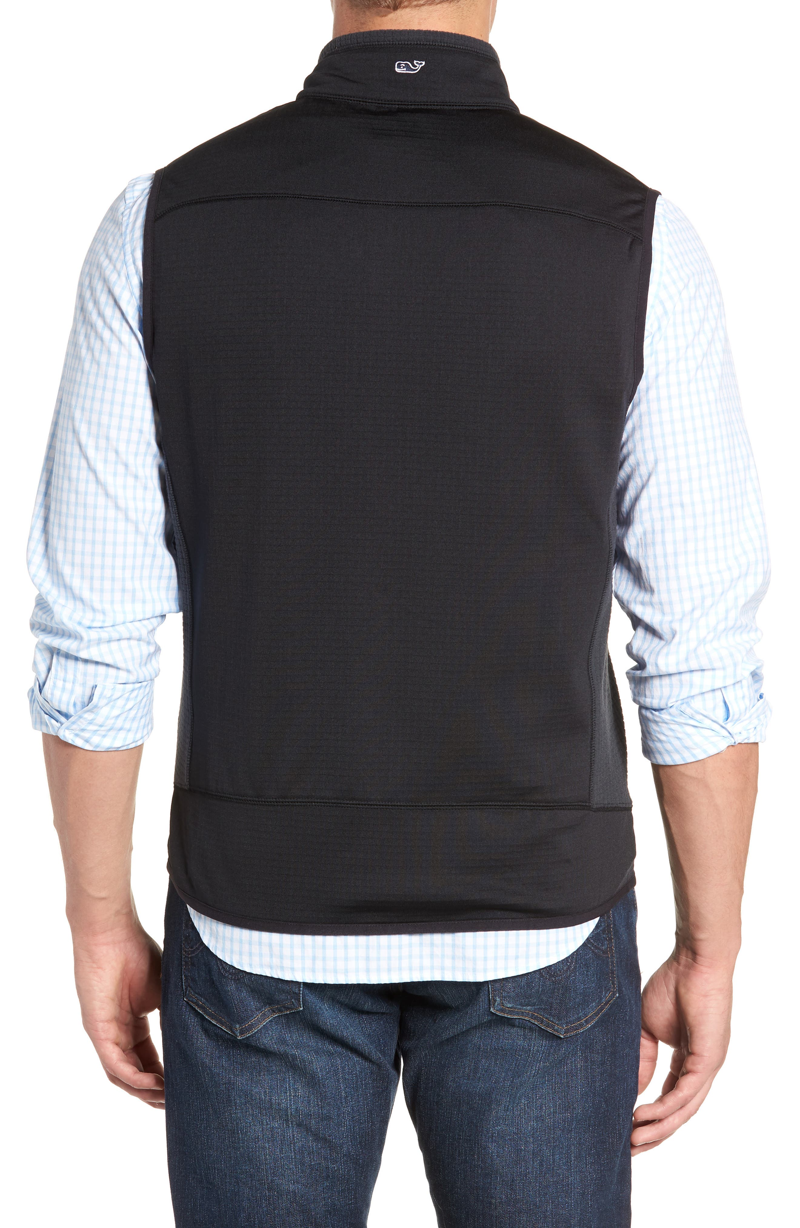 Grid Ripstop Fleece Vest,                             Alternate thumbnail 2, color,                             002
