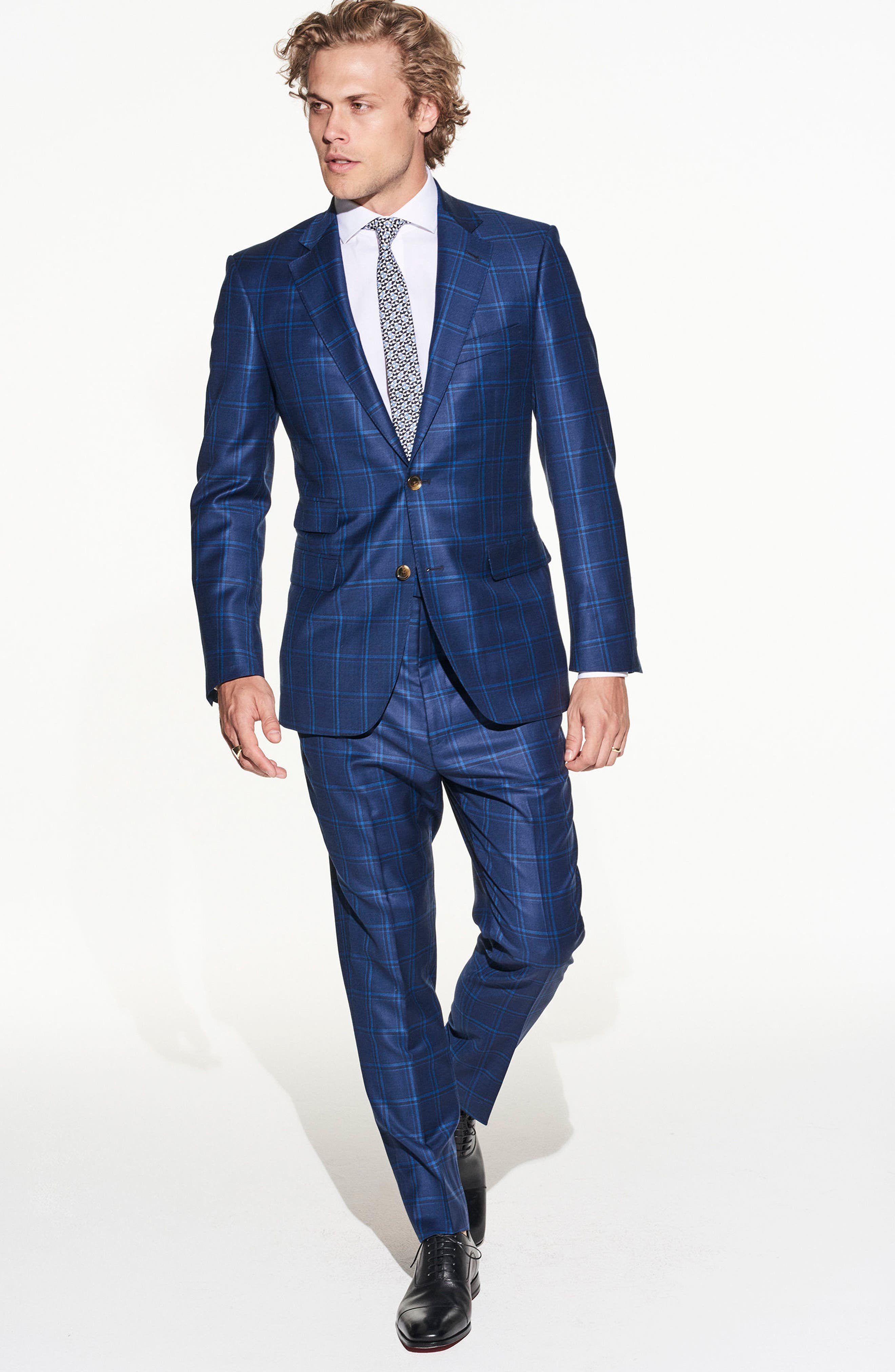 by Ilaria Urbinati Kilgore Slim Fit Plaid Wool Suit,                             Alternate thumbnail 6, color,