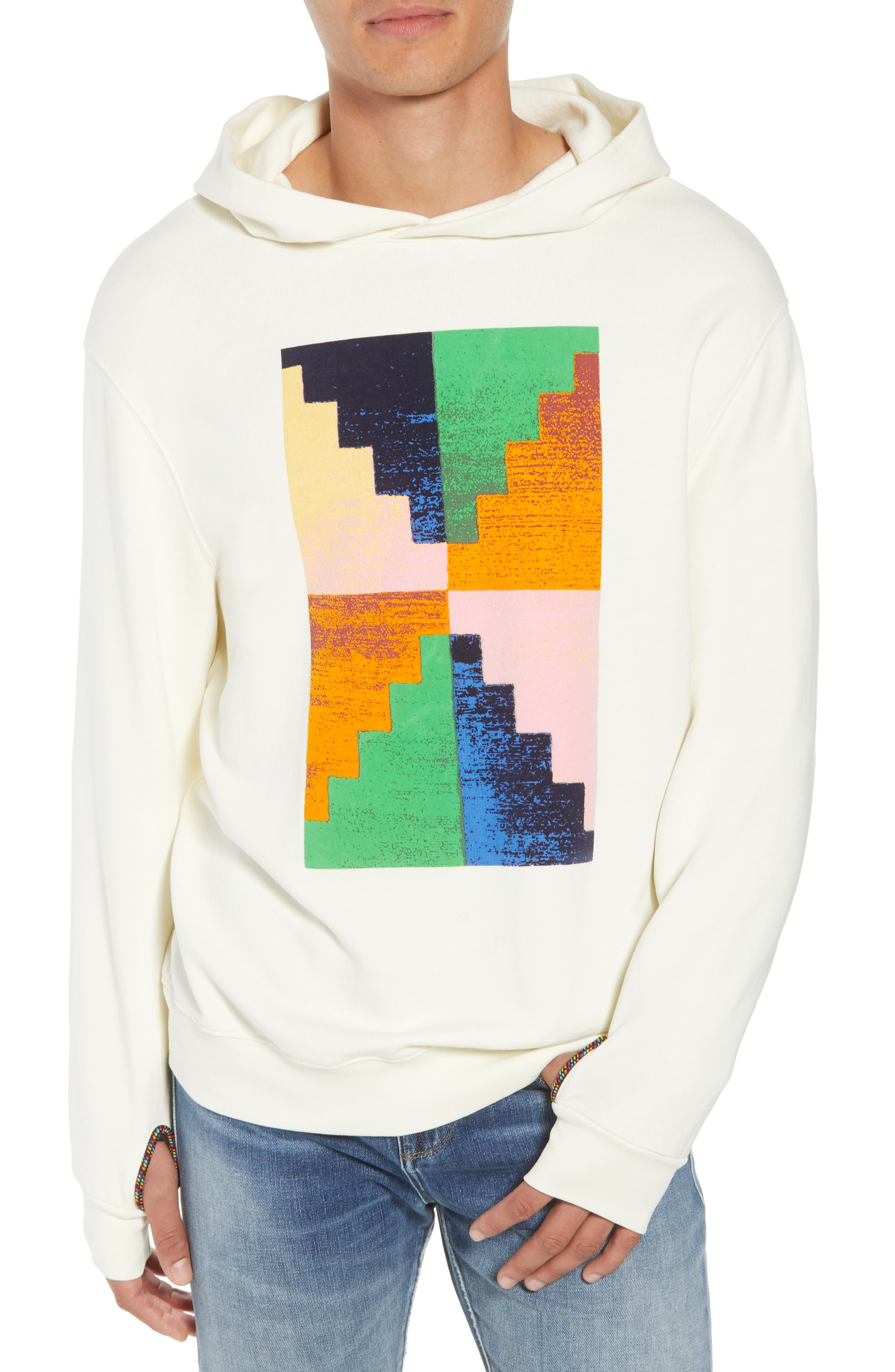 Pyramid Classic Fit Hoodie,                             Main thumbnail 1, color,                             OFF WHITE