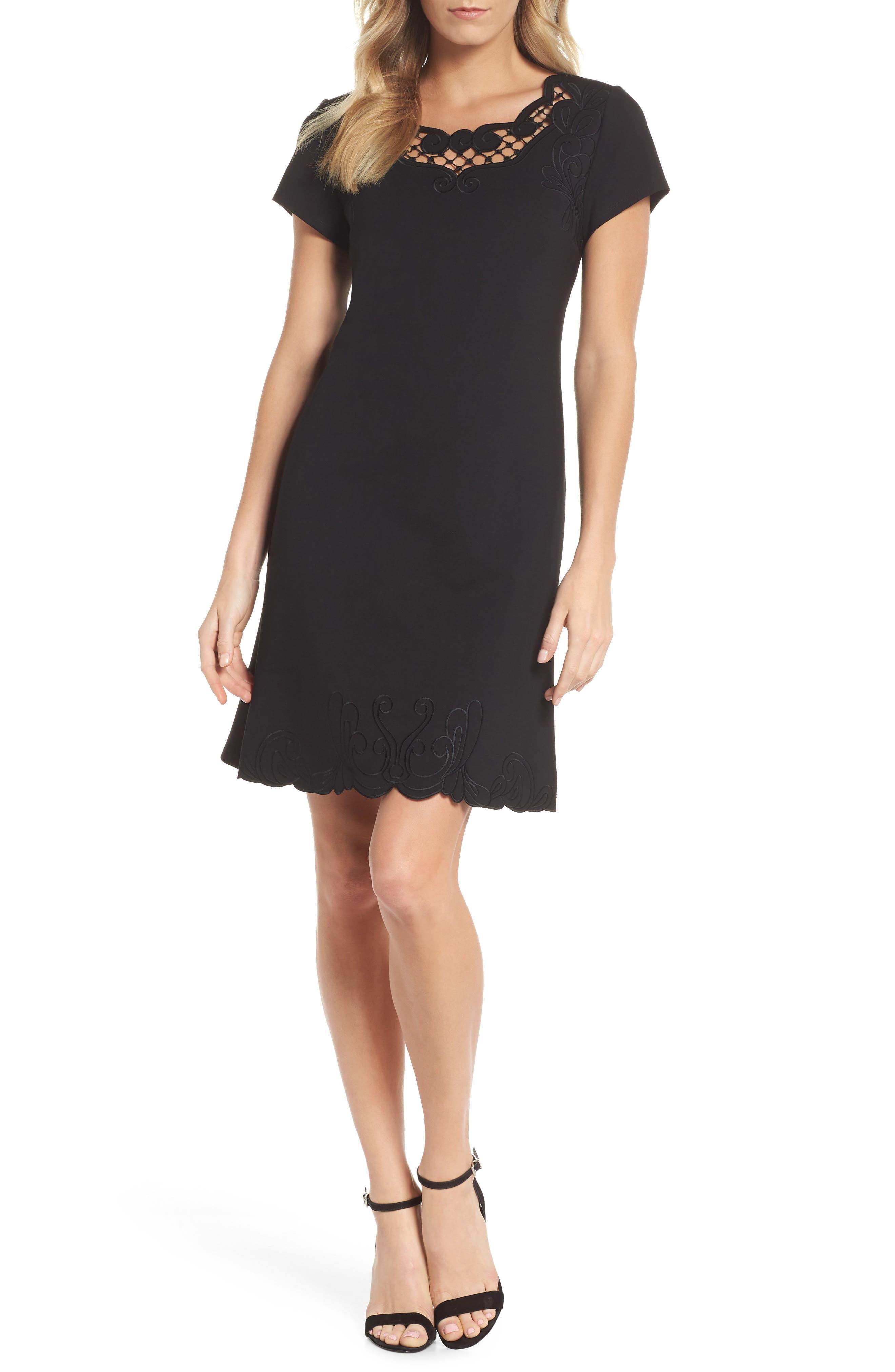 KOBI HALPERIN Tavi Cutout Neckline Dress, Main, color, 001