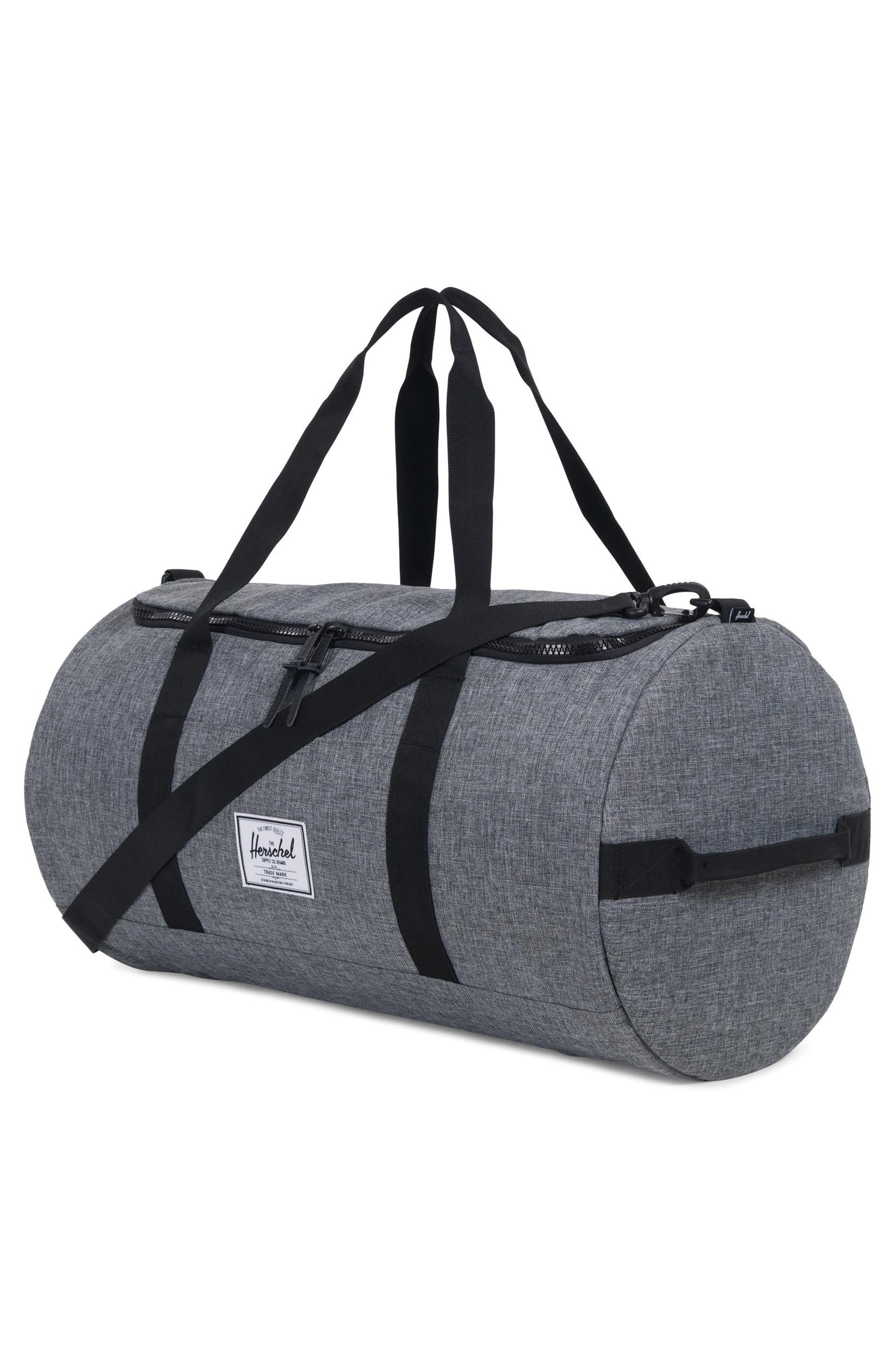 Sutton Duffel Bag,                             Alternate thumbnail 2, color,                             RAVEN CROSSHATCH