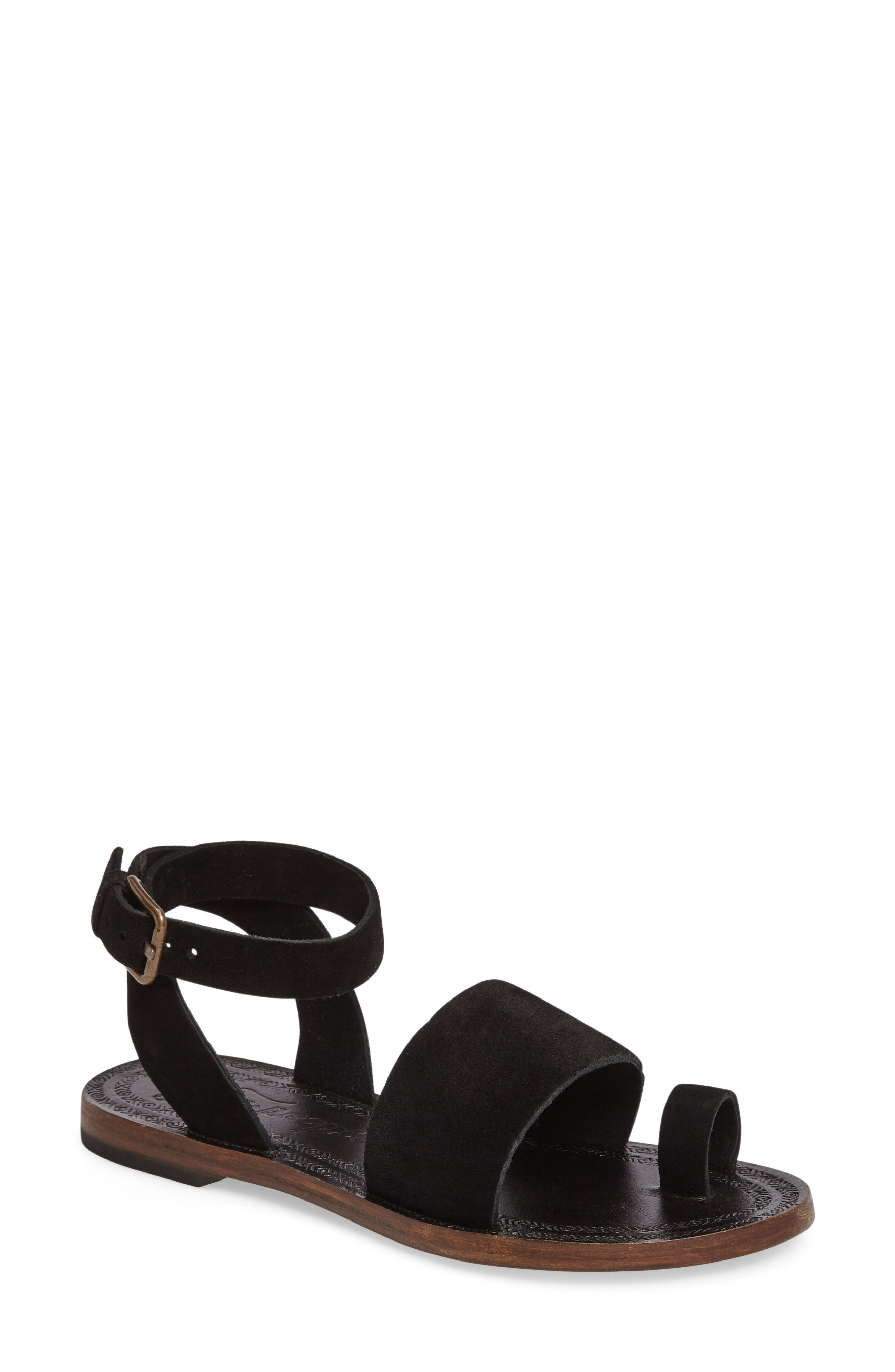 Torrence Ankle Wrap Sandal,                         Main,                         color, 001