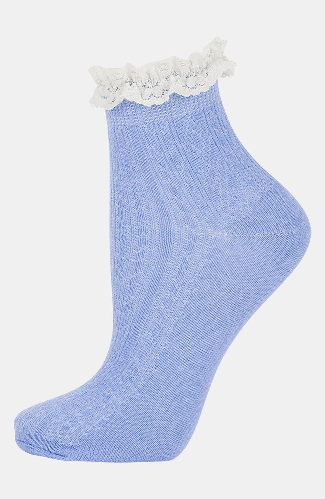 Lace Trim Ankle Socks,                             Main thumbnail 14, color,