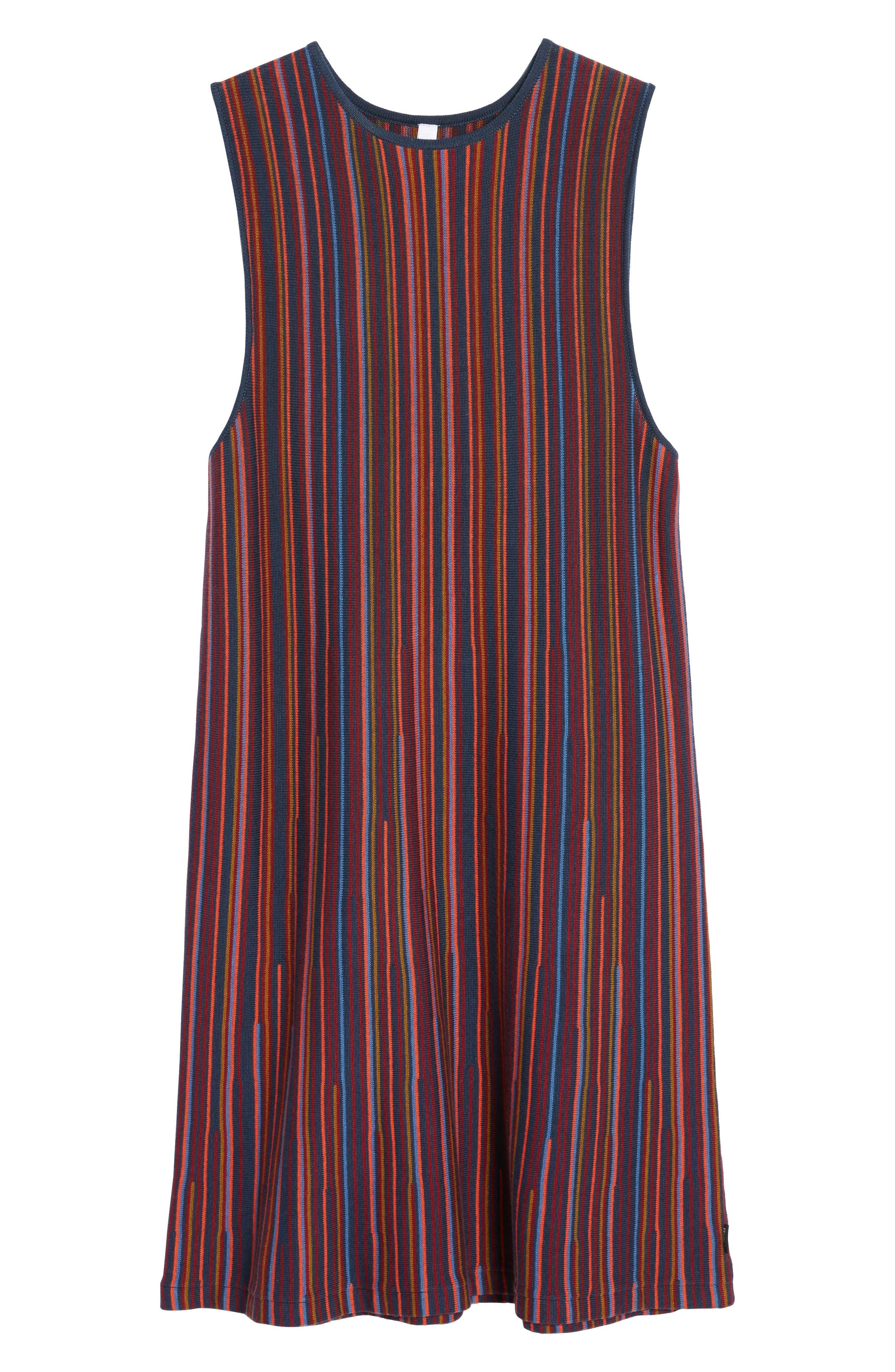Foolish Stripe Knit Dress,                             Alternate thumbnail 6, color,                             930